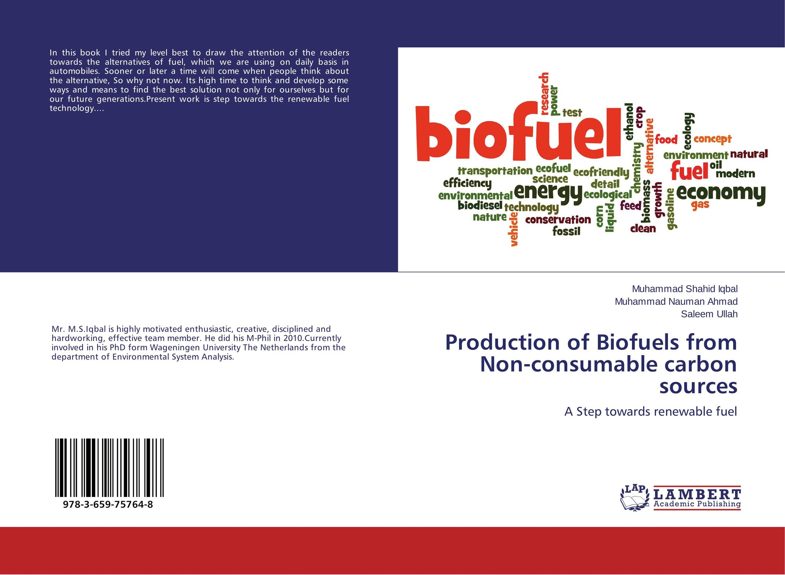 Production of Biofuels from Non-consumable carbon sources sadat khattab usama abdul raouf and tsutomu kodaki bio ethanol for future from woody biomass