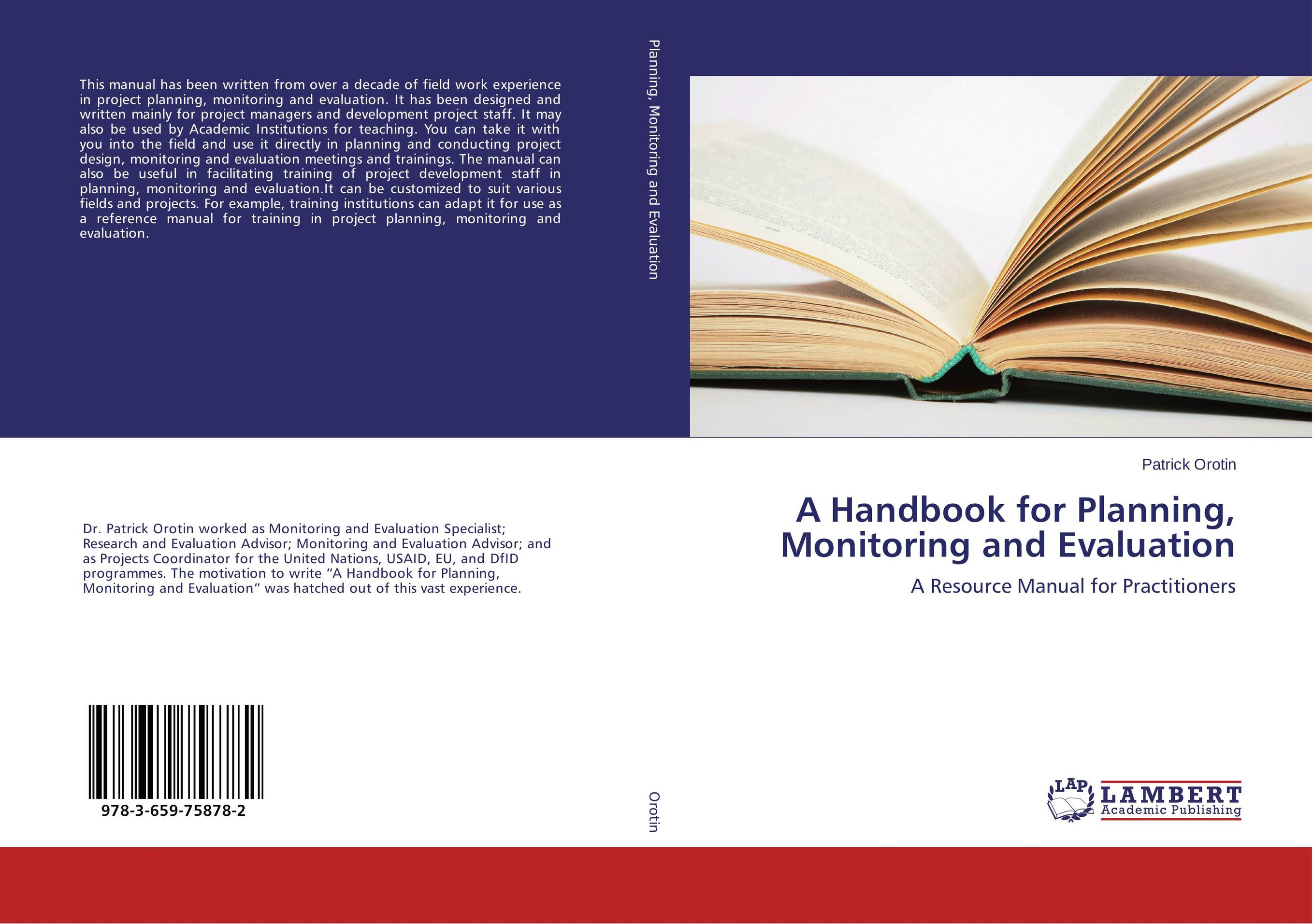 A Handbook for Planning, Monitoring and Evaluation elaine biech training and development for dummies