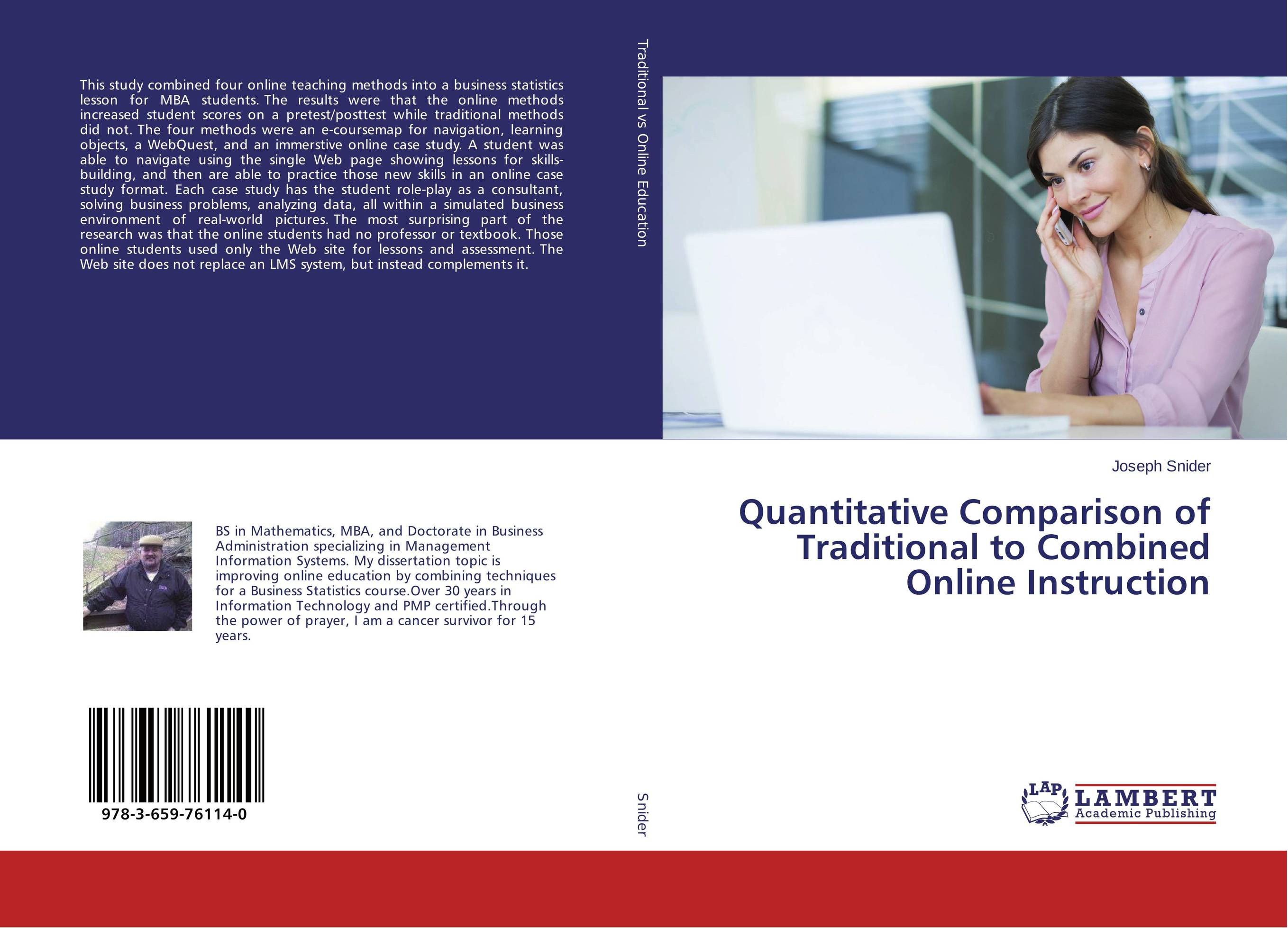 Quantitative Comparison of Traditional to Combined Online Instruction david crowder a building a web site for dummies