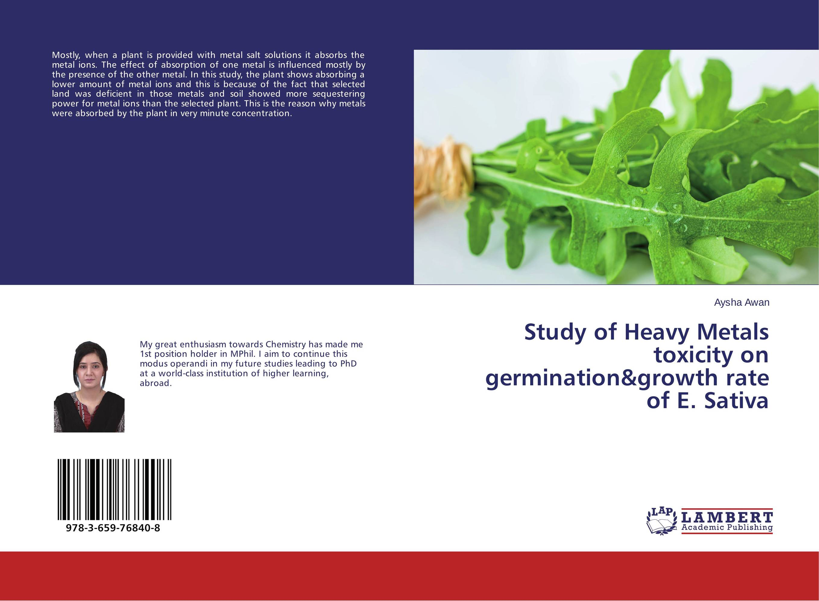 Study of Heavy Metals toxicity on germination&growth rate of E. Sativa marwan a ibrahim effect of heavy metals on haematological and testicular functions