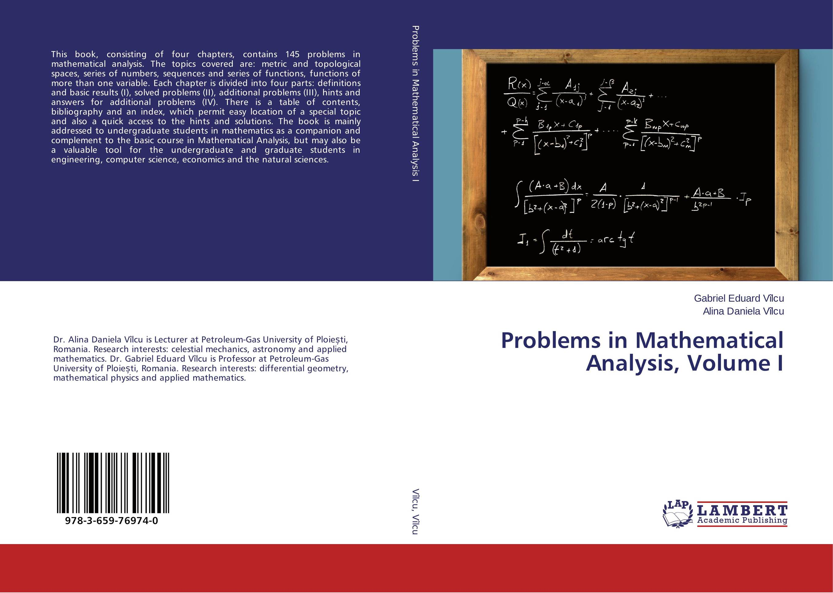 Problems in Mathematical Analysis, Volume I a course in mathematical analysis
