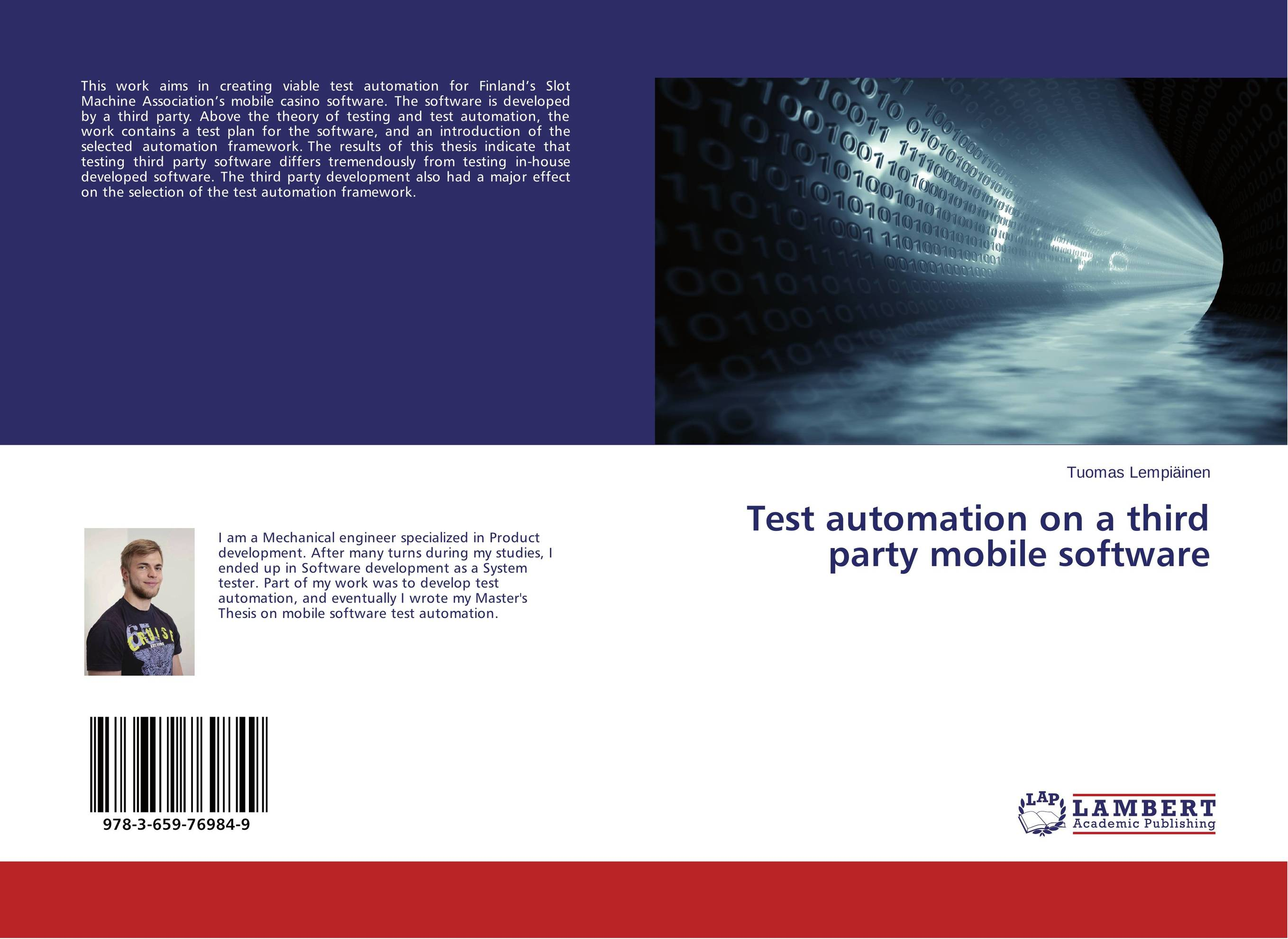 Test automation on a third party mobile software theory and principles of psychological test development