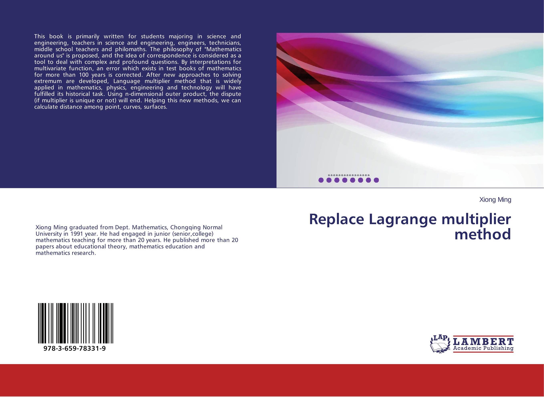 Replace Lagrange multiplier method pierre audibert mathematics for informatics and computer science