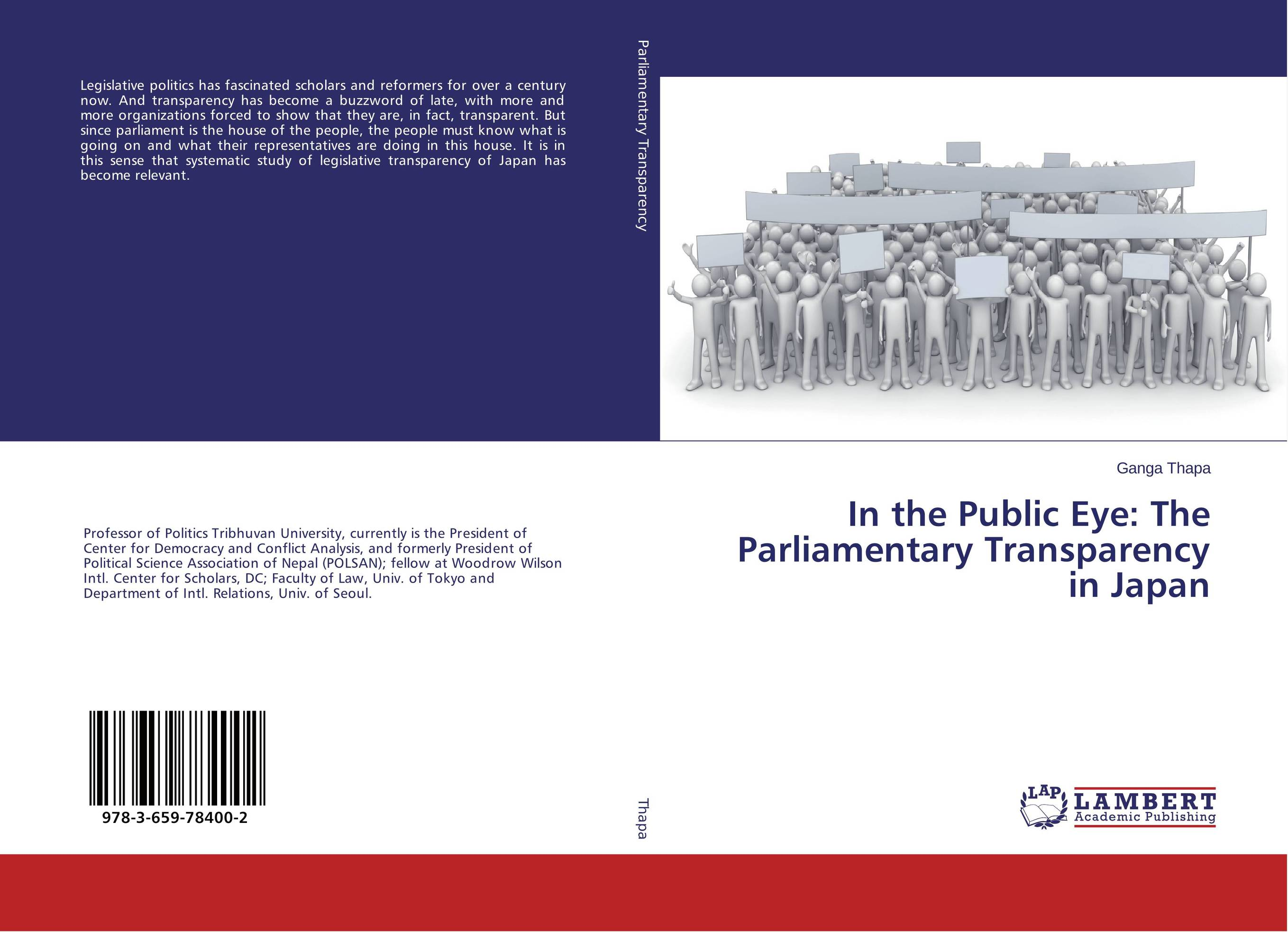 In the Public Eye: The Parliamentary Transparency in Japan sense and sensibility