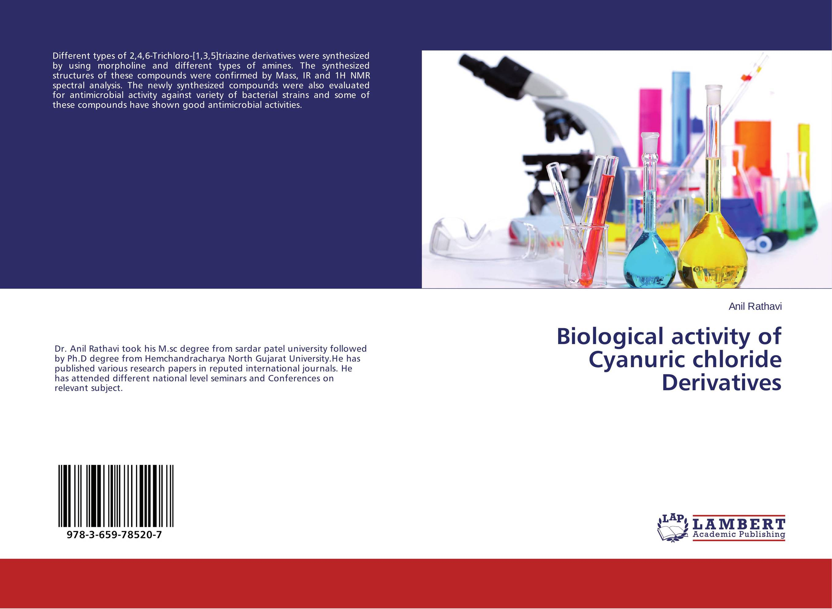 Biological activity of Cyanuric chloride Derivatives sandip p vyas novel s triazine derivatives