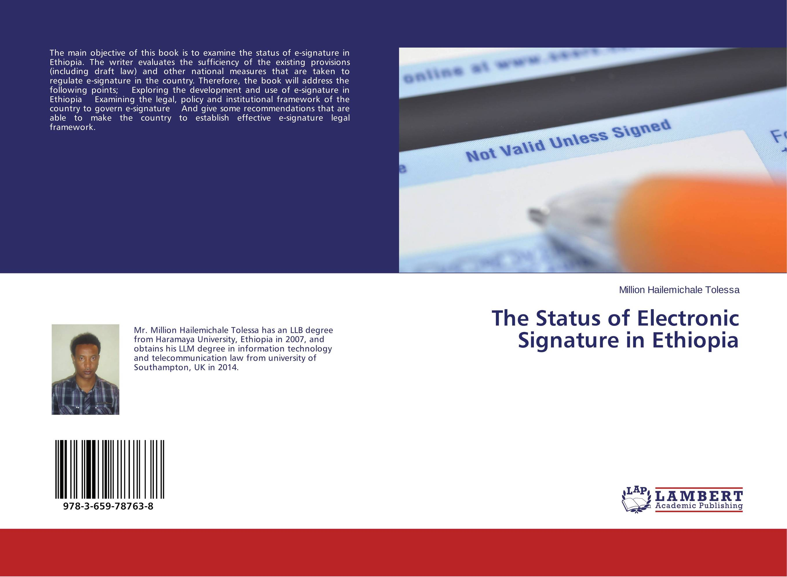 The Status of Electronic Signature in Ethiopia цена и фото