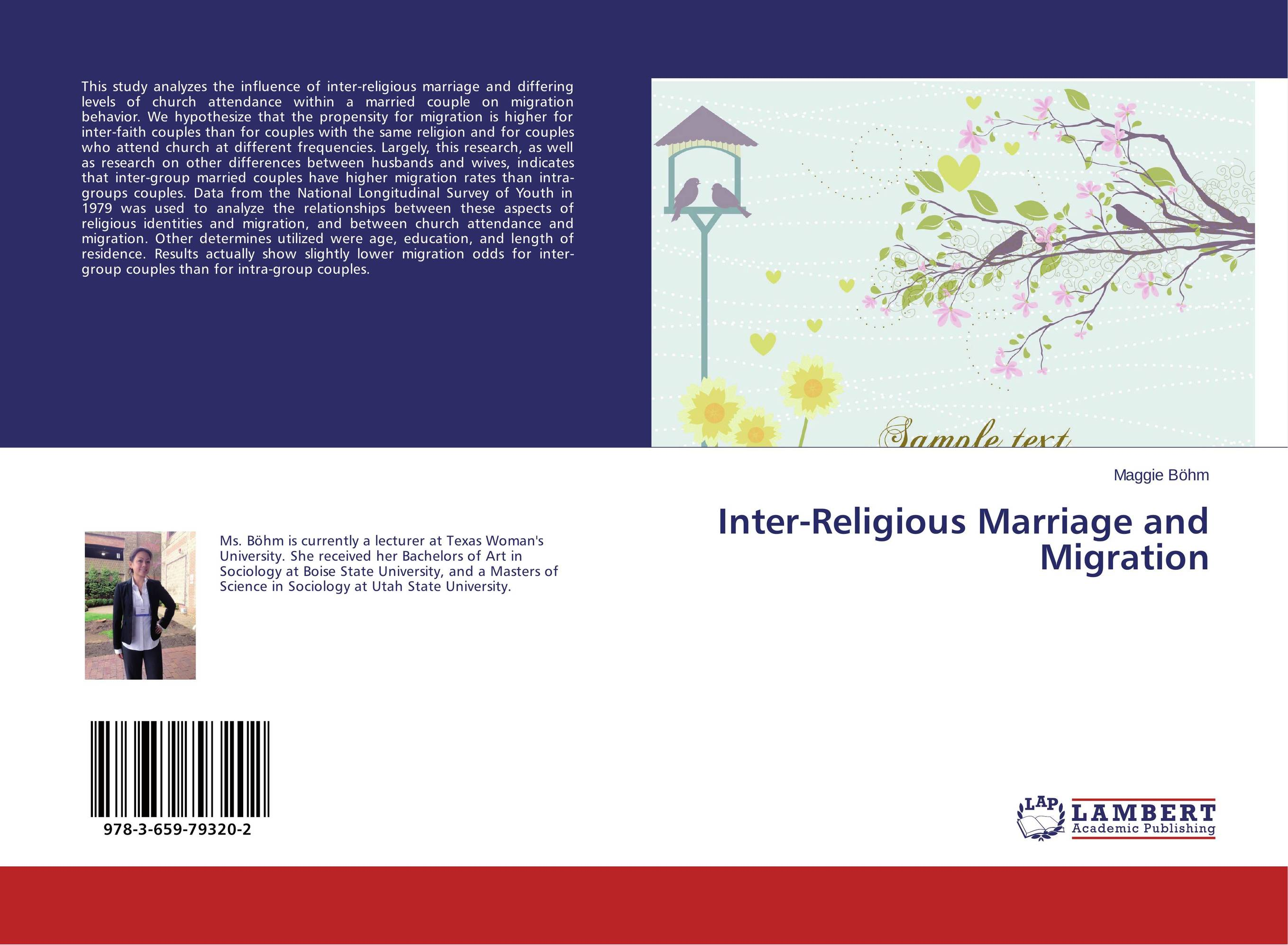 Inter-Religious Marriage and Migration intra and inter frames based on video compression techniques
