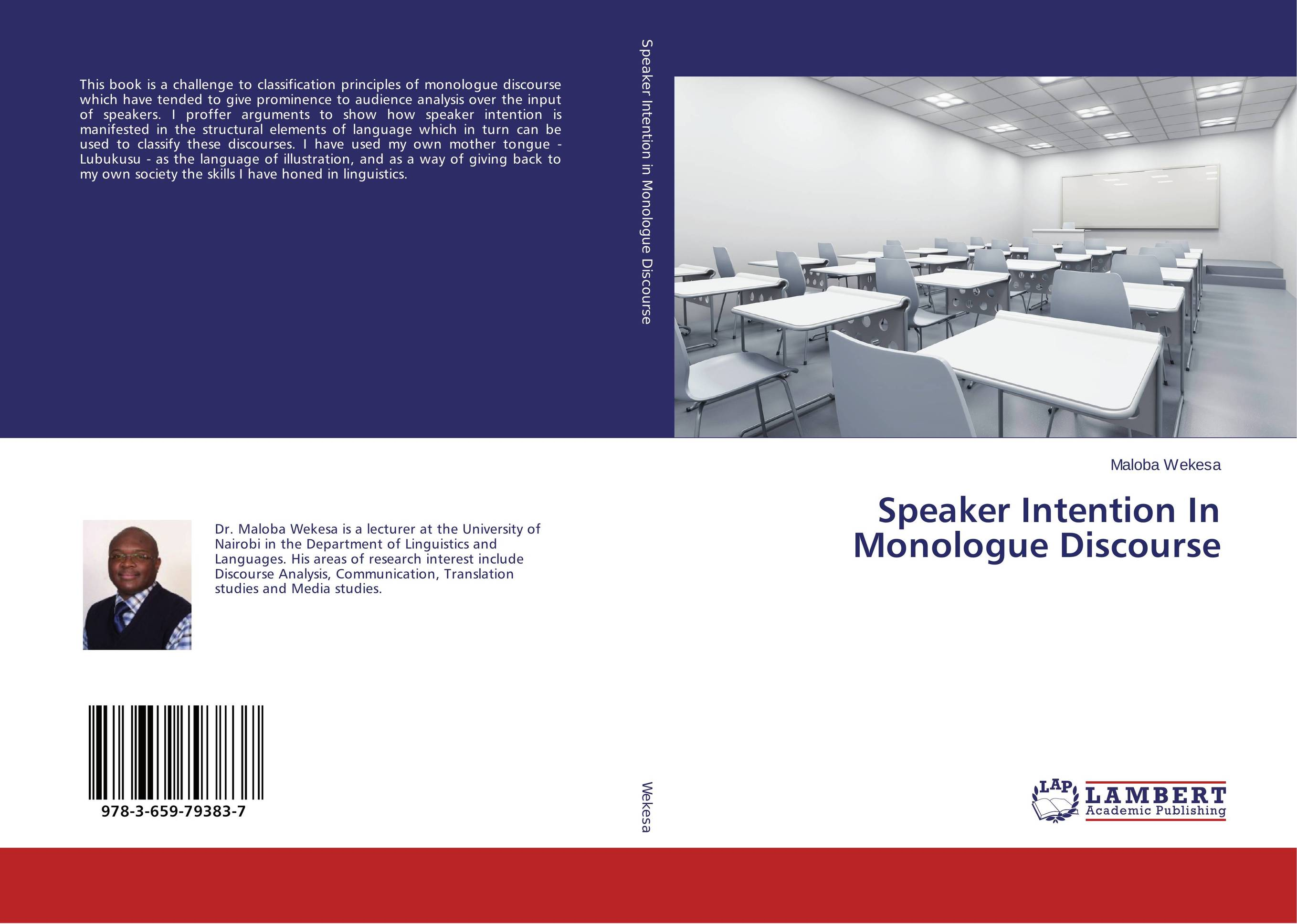 Speaker Intention In Monologue Discourse my own dear brother