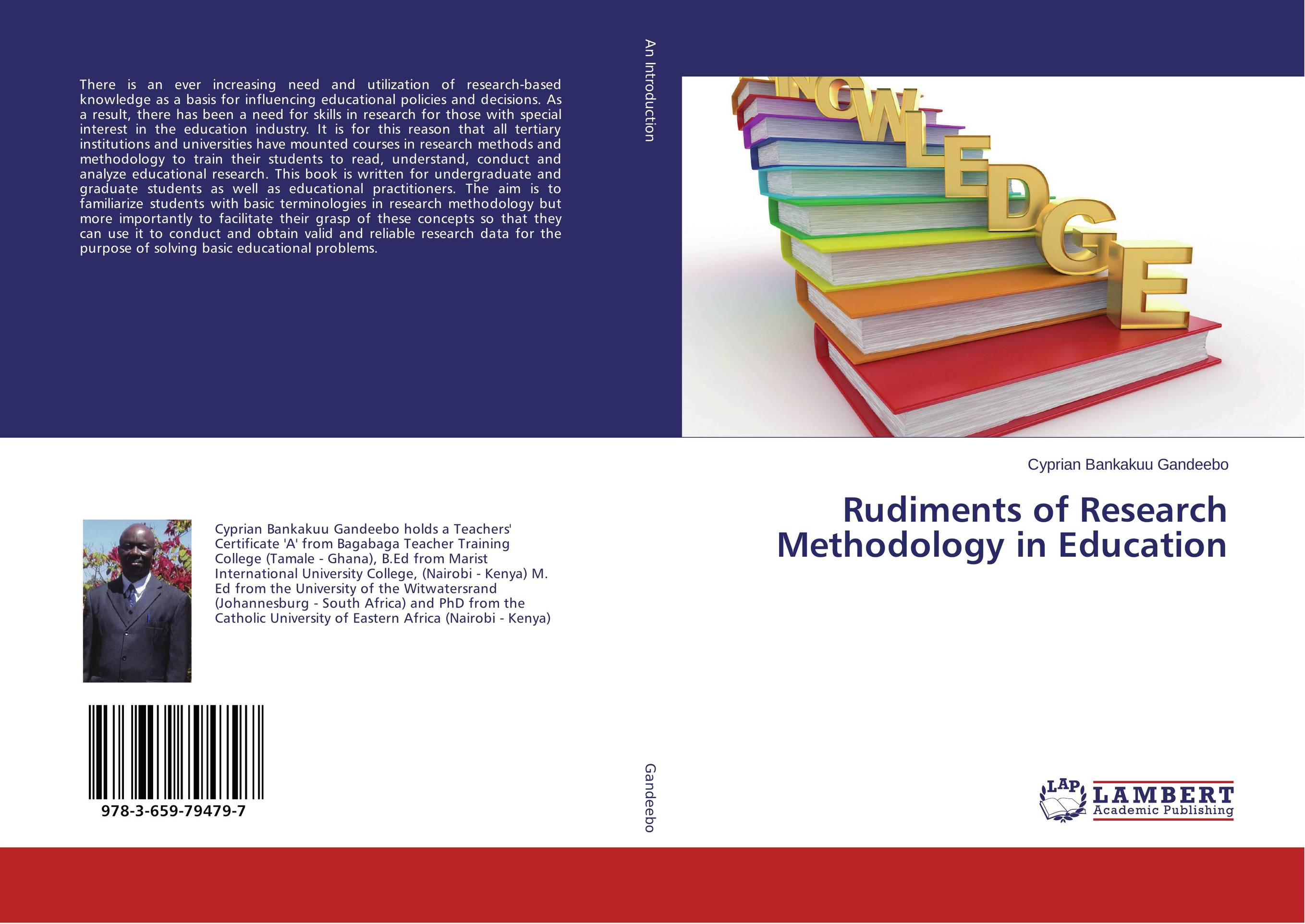Rudiments of Research Methodology in Education economic methodology