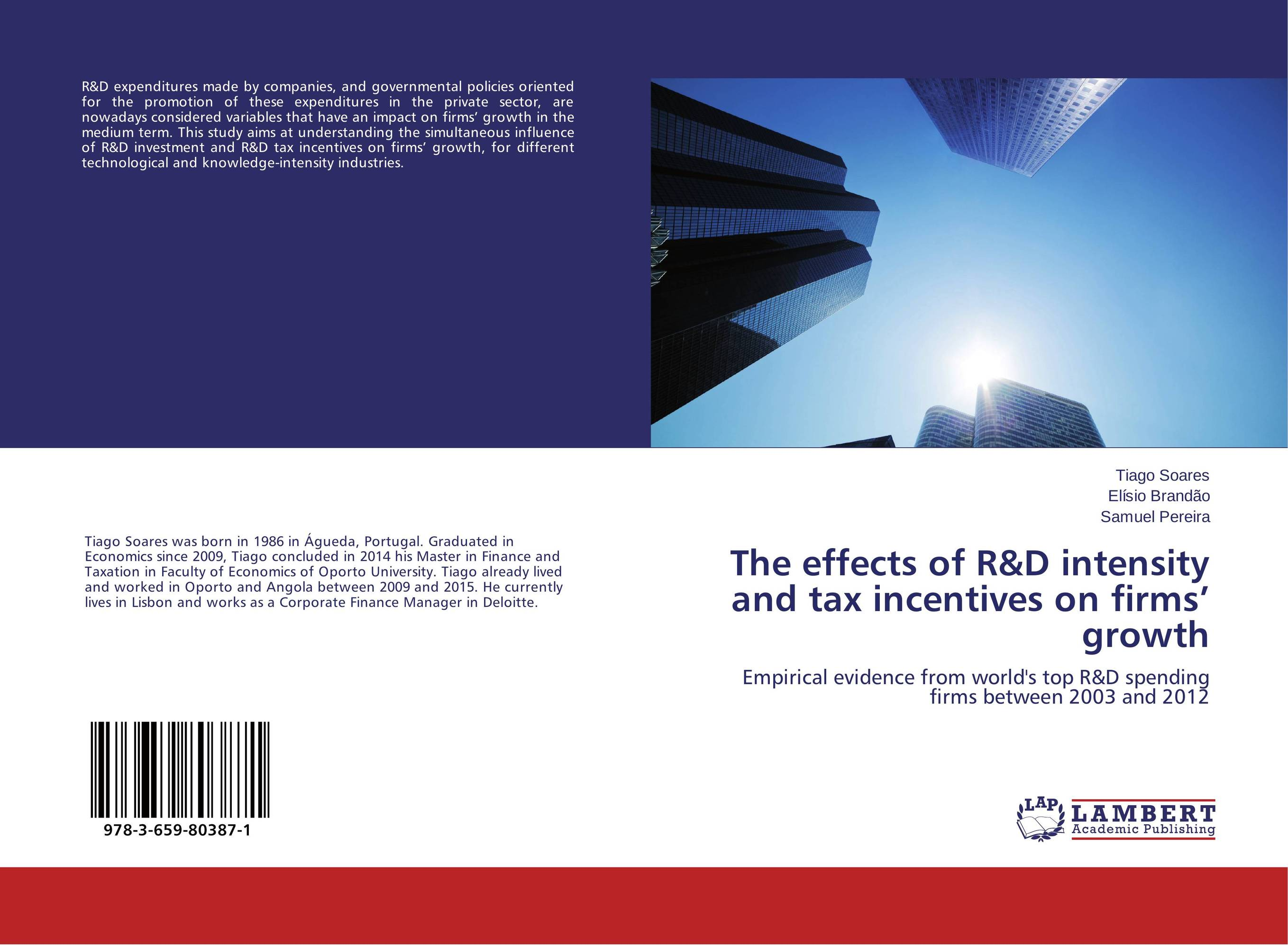 The effects of R&D intensity and tax incentives on firms' growth impact 185 r