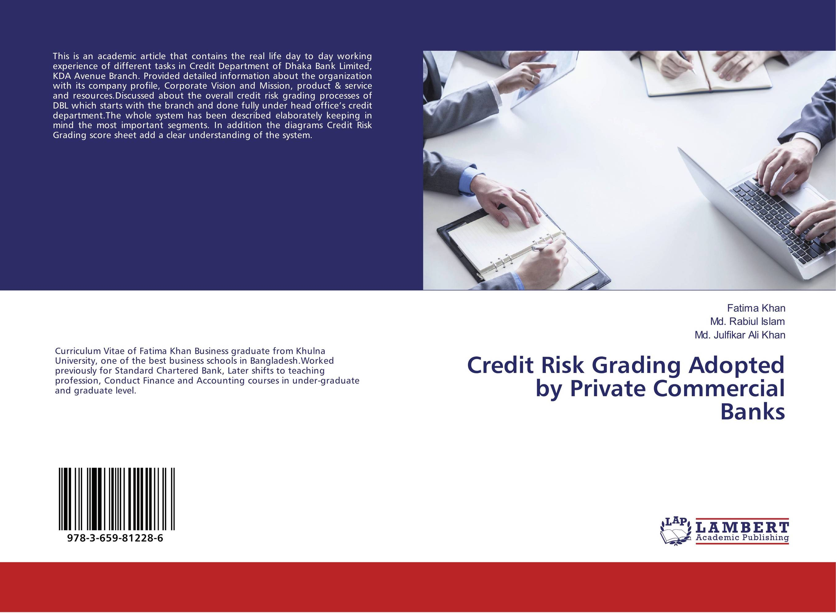 Credit Risk Grading Adopted by Private Commercial Banks jahnavi ravula pawan kumar avadhanam and r k mishra credit and risk analysis by banks