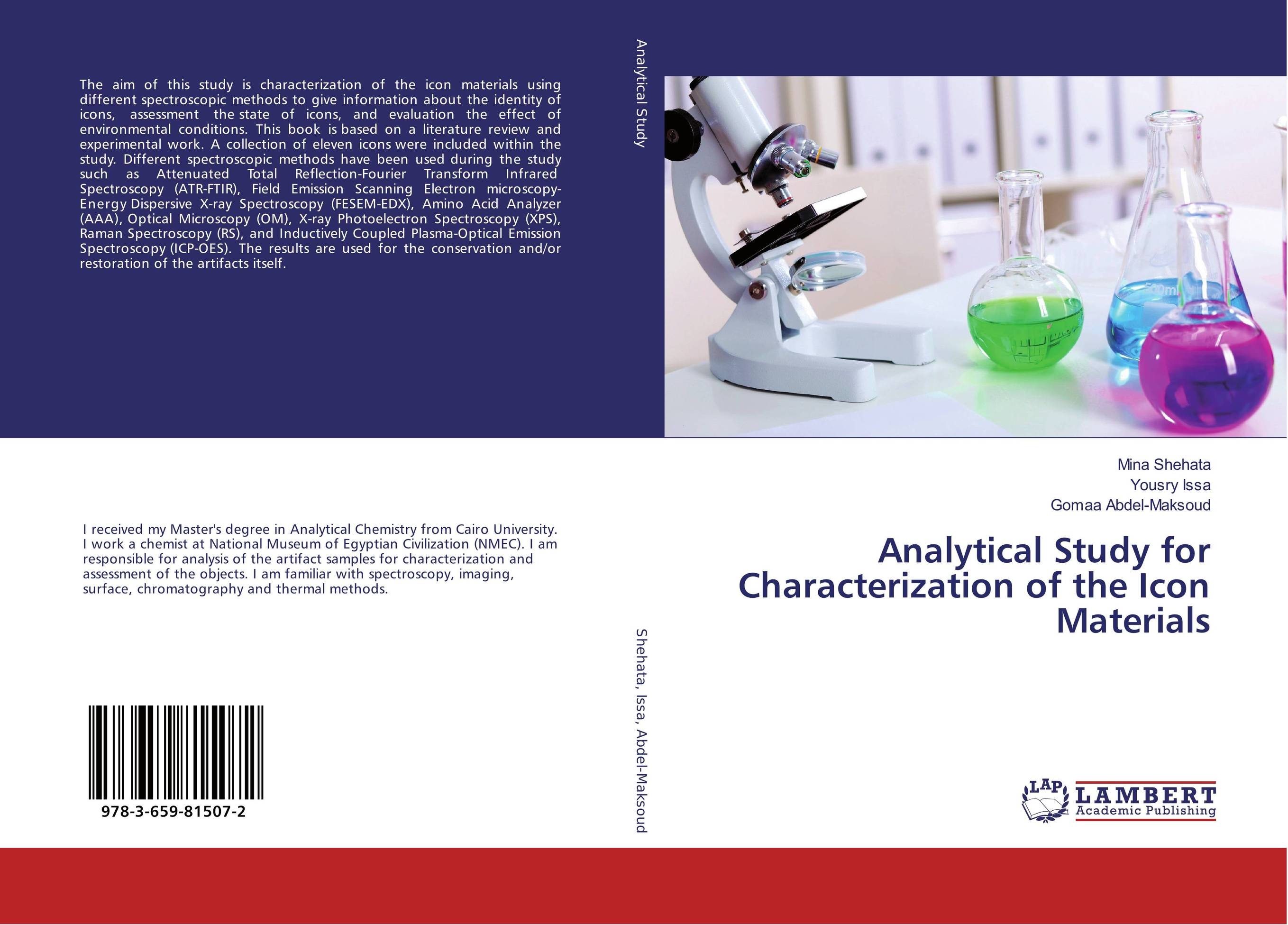 Analytical Study for Characterization of the Icon Materials spectroscopy tutorial