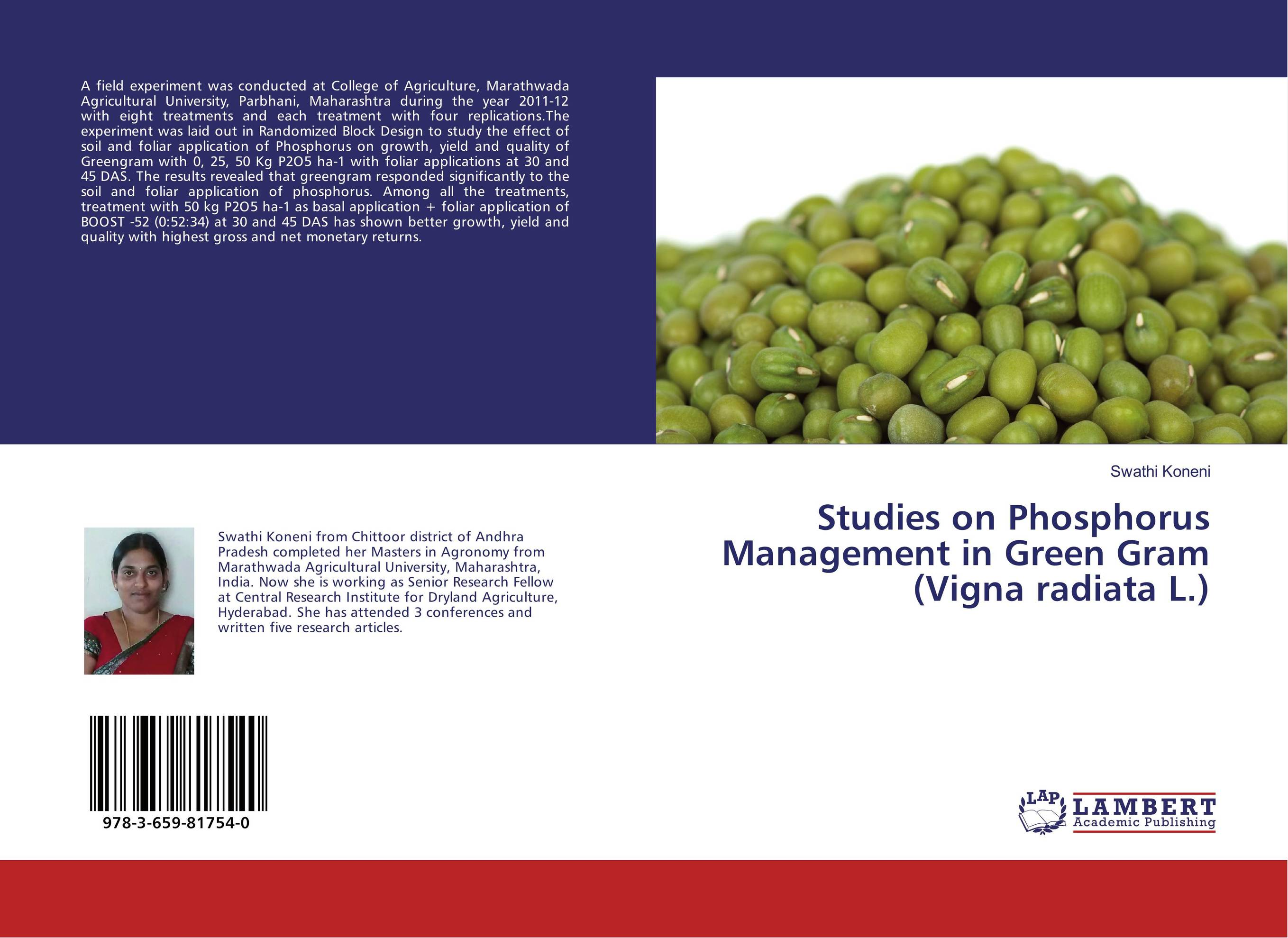 Studies on Phosphorus Management in Green Gram (Vigna radiata L.) james sagner working capital management applications and case studies