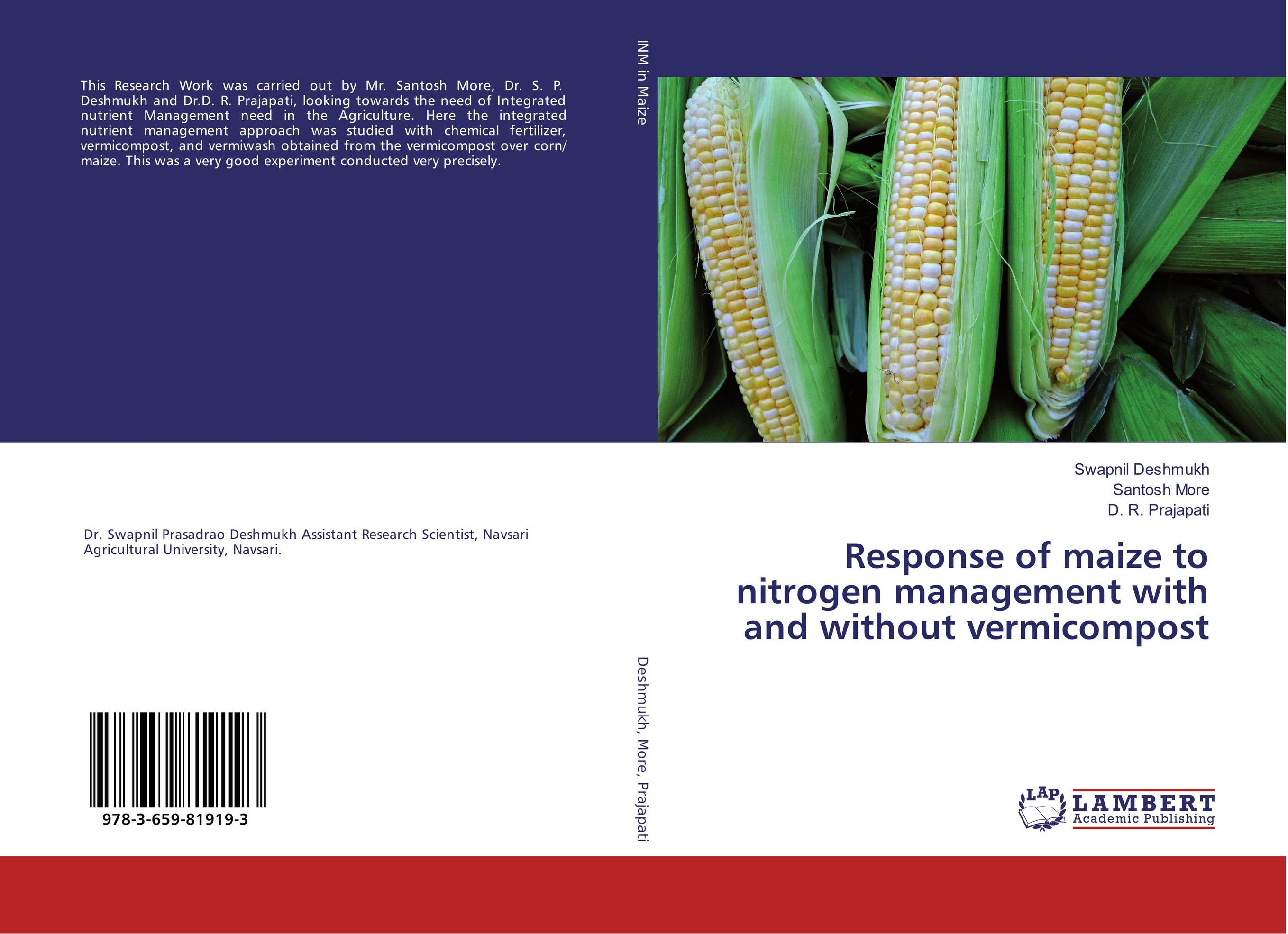 Response of maize to nitrogen management with and without vermicompost