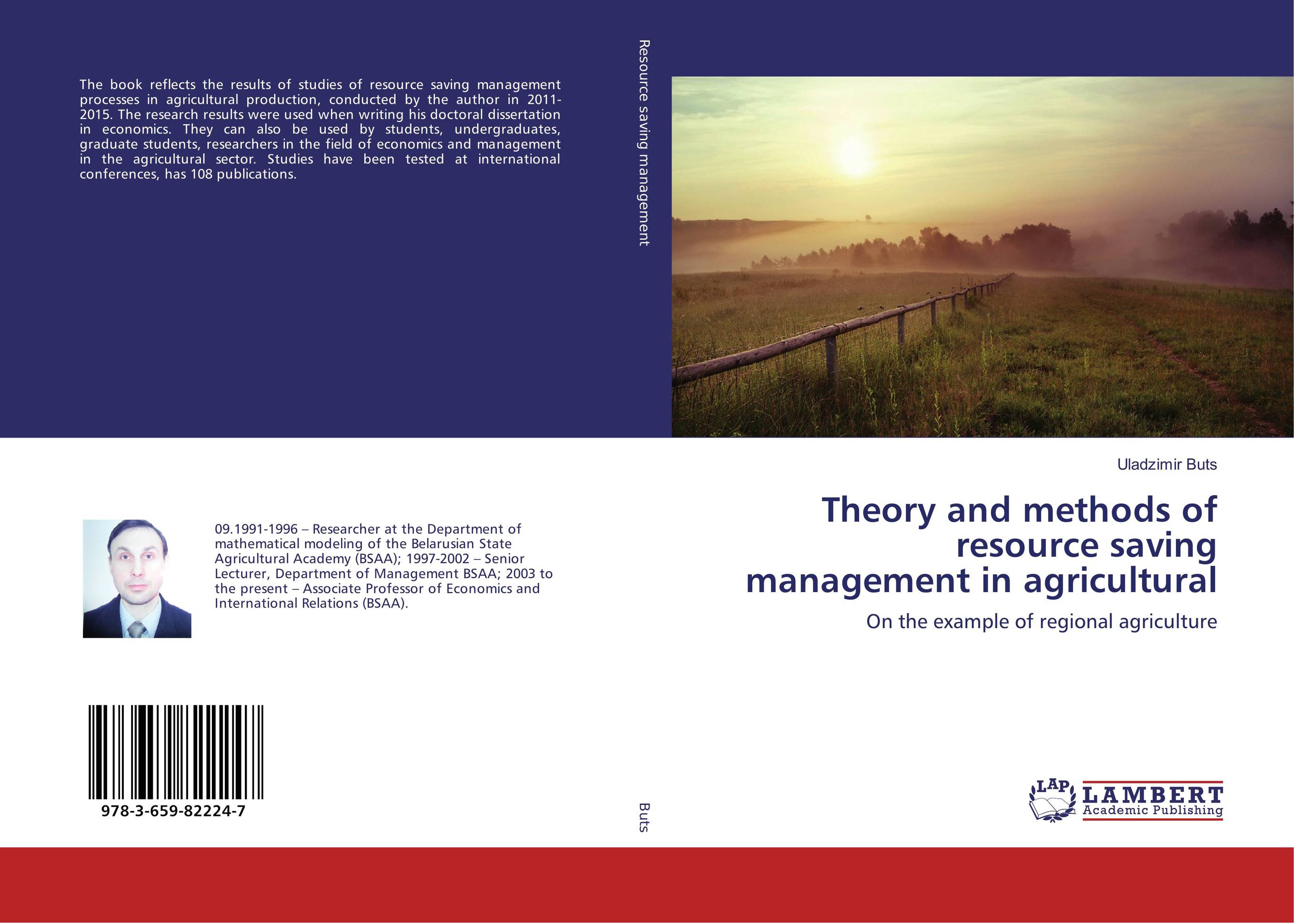 Theory and methods of resource saving management in agricultural production