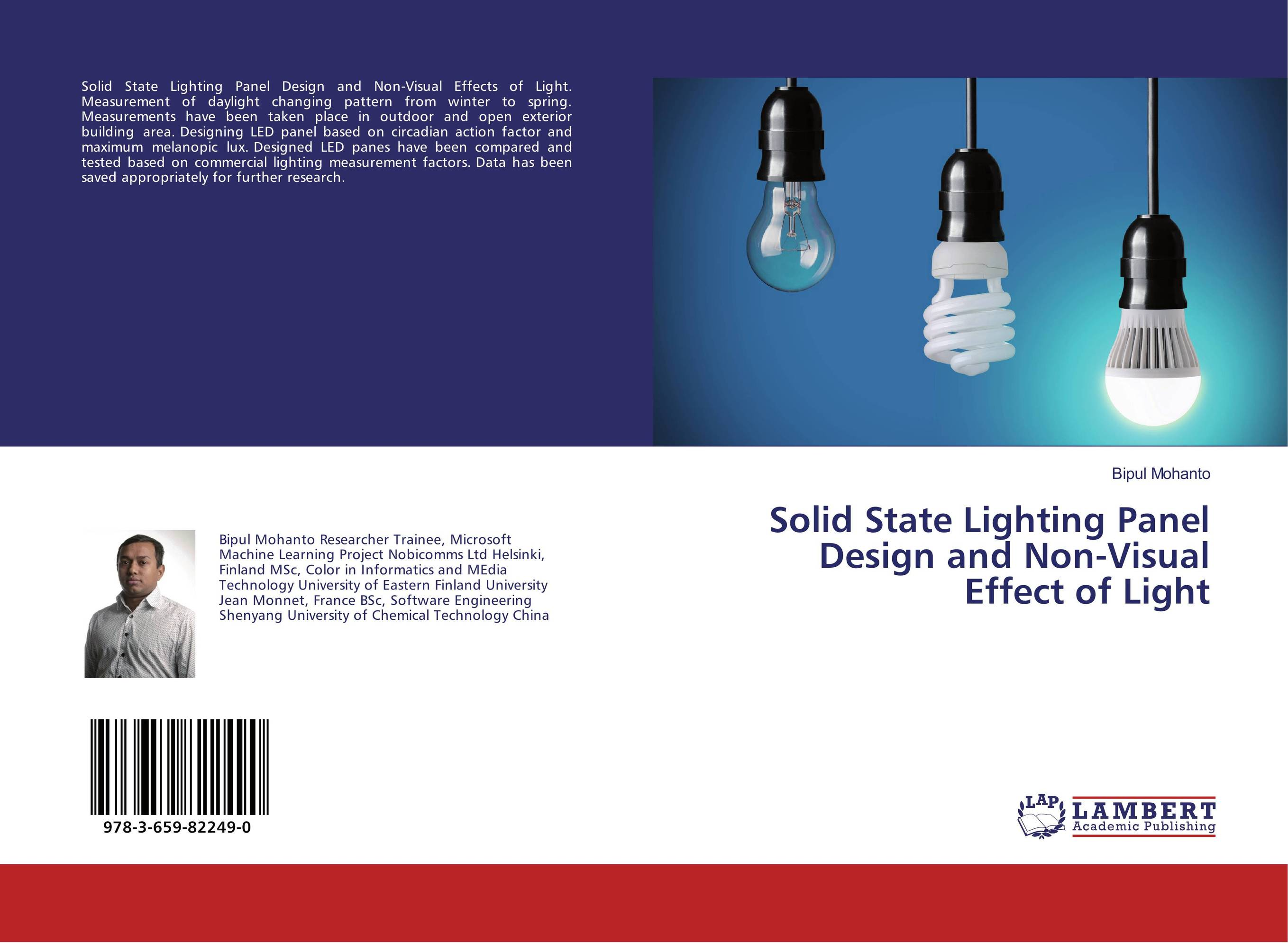 Solid State Lighting Panel Design and Non-Visual Effect of Light dimensions of state building