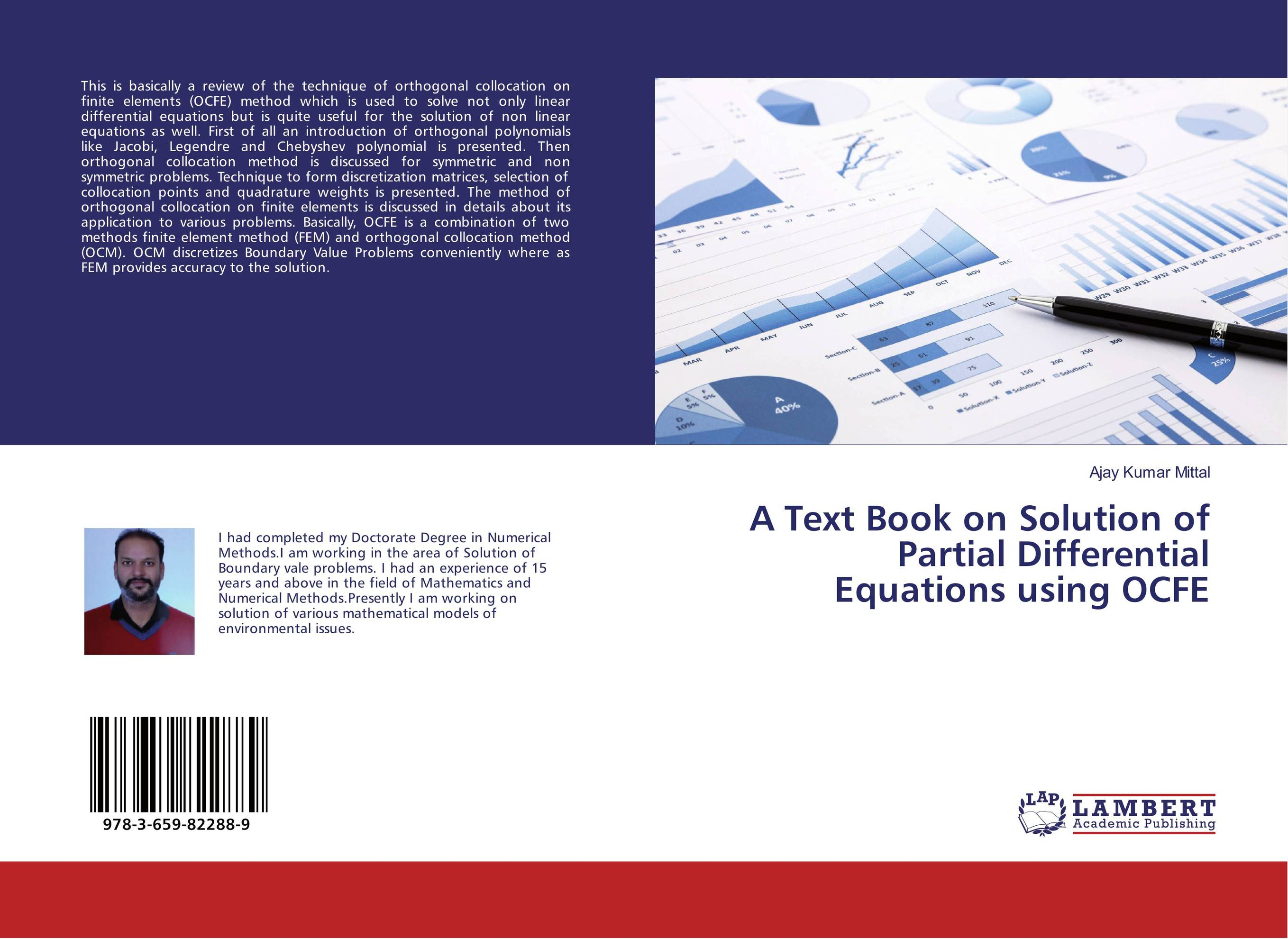 A Text Book on Solution of Partial Differential Equations using OCFE collocation and preposition sense