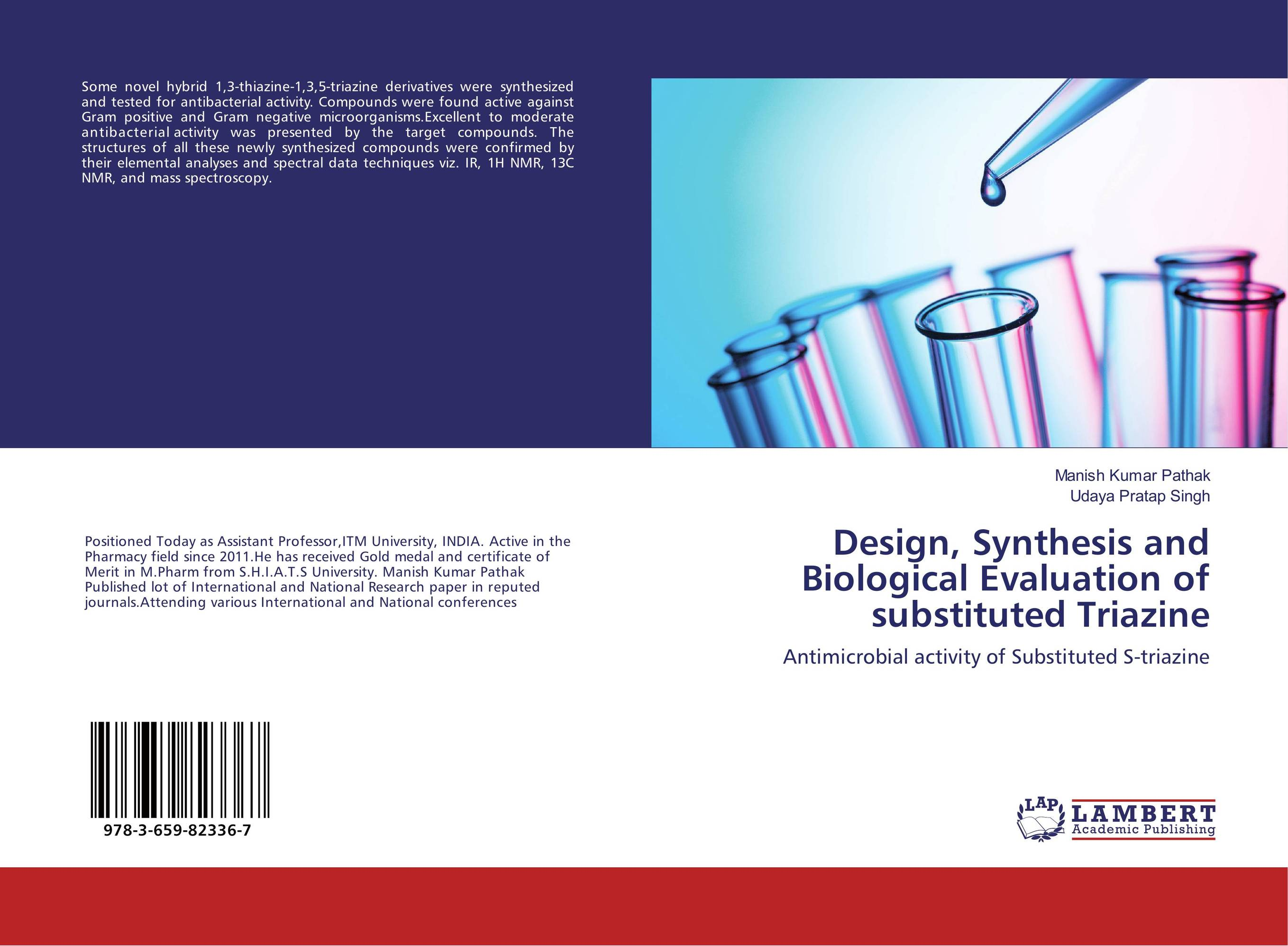 Design, Synthesis and Biological Evaluation of substituted Triazine sandip p vyas novel s triazine derivatives
