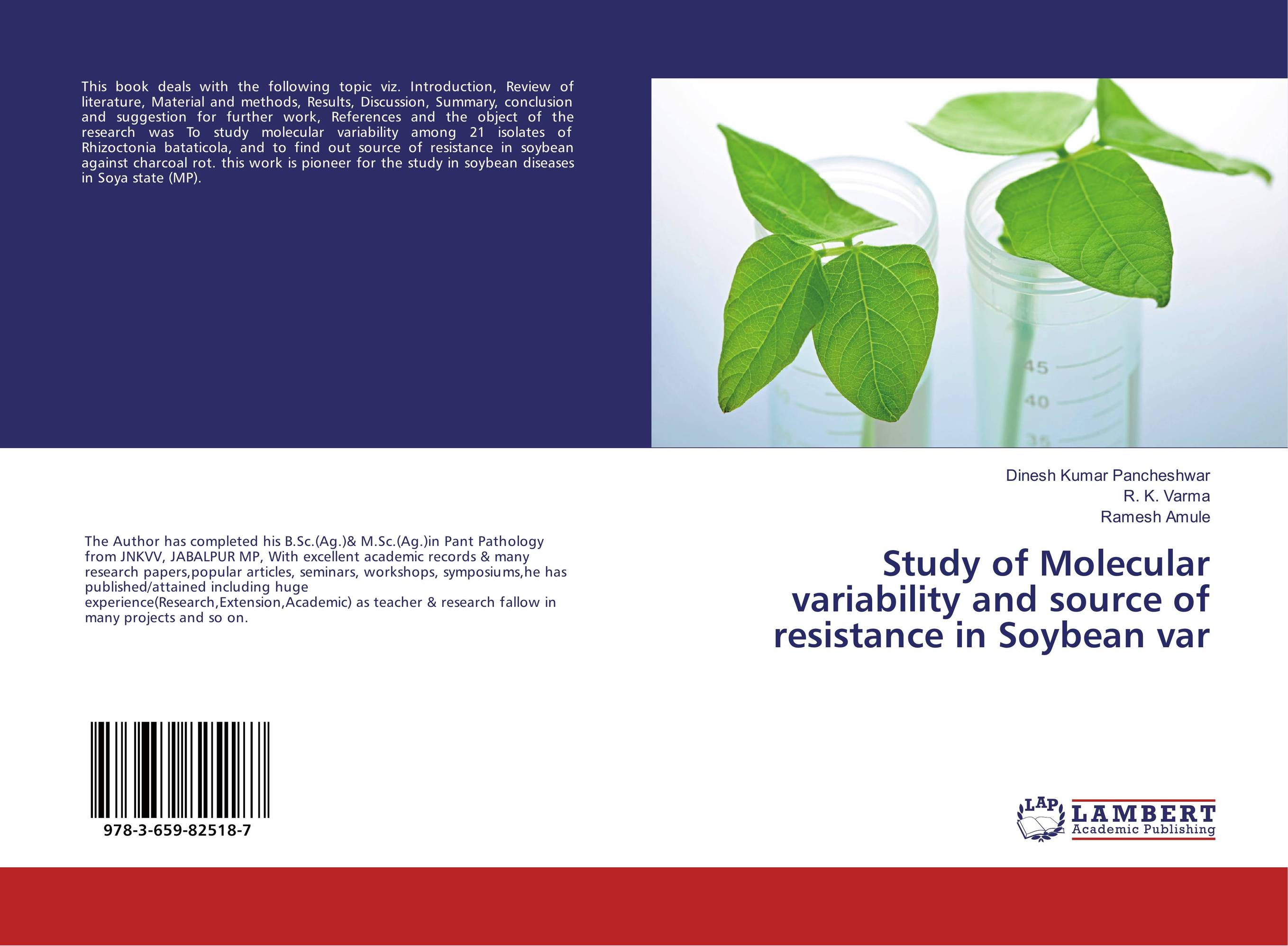 Study of Molecular variability and source of resistance in Soybean var resistance study in tomato