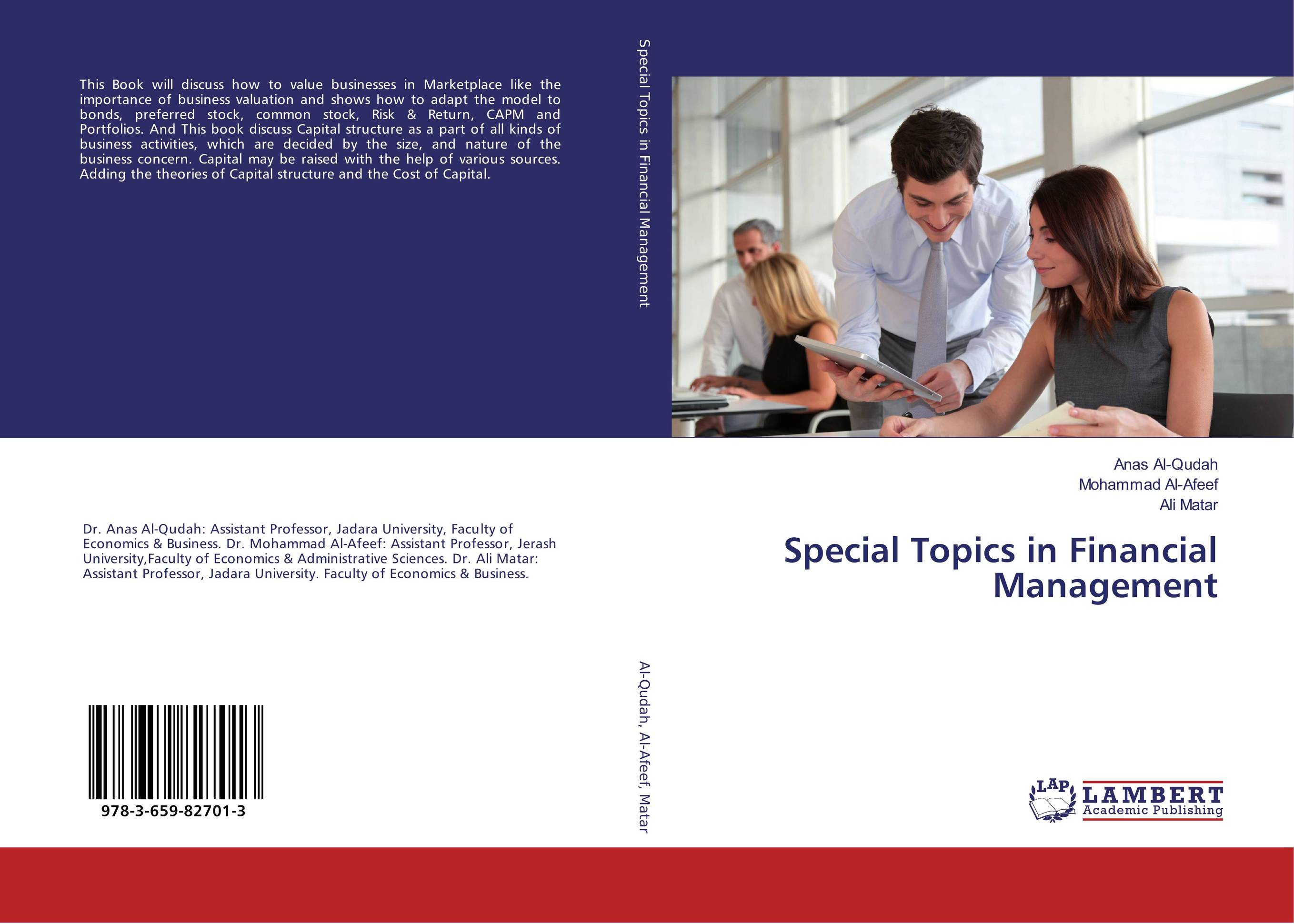 Special Topics in Financial Management capital structure and risk dynamics among banks