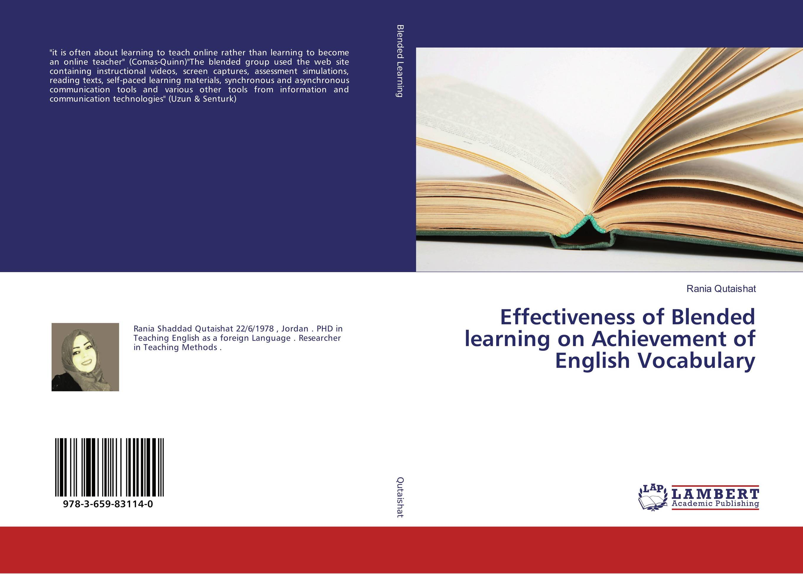 Effectiveness of Blended learning on Achievement of English Vocabulary betty mcdonald reflective assessment and service learning