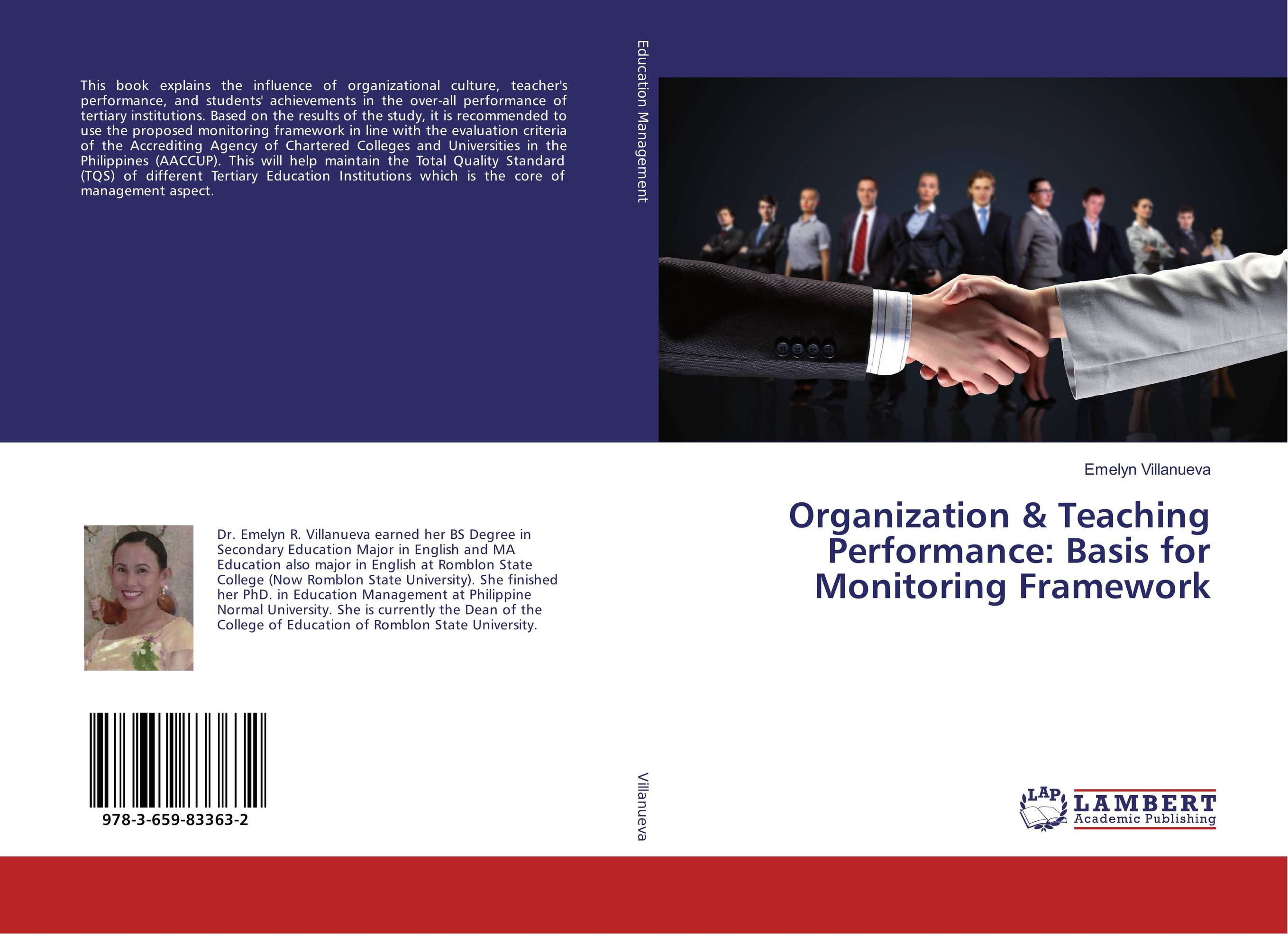 Organization & Teaching Performance: Basis for Monitoring Framework performance evaluation of disparity for stereo images