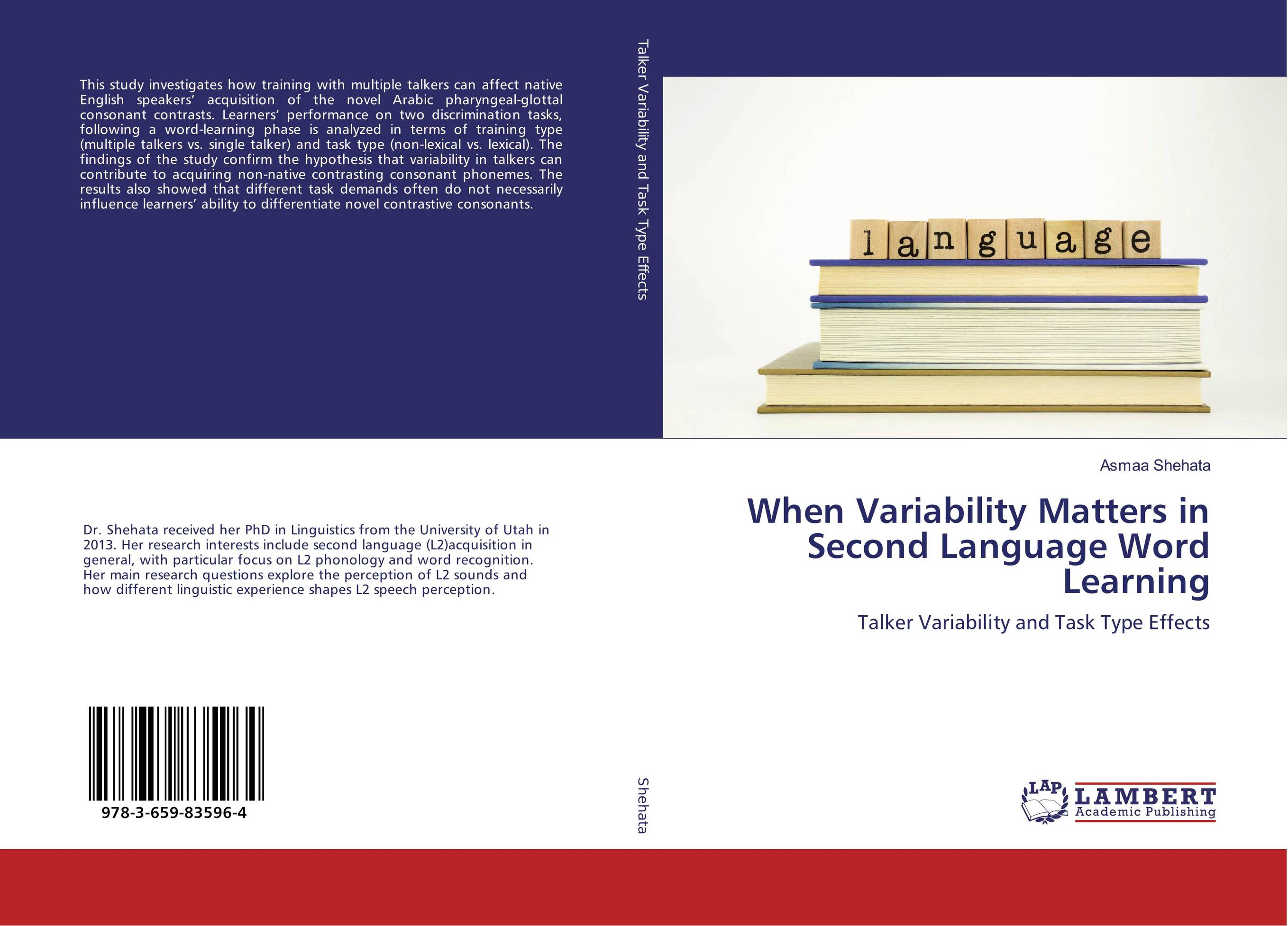 When Variability Matters in Second Language Word Learning zoltan dornyei the psychology of second language acquisition