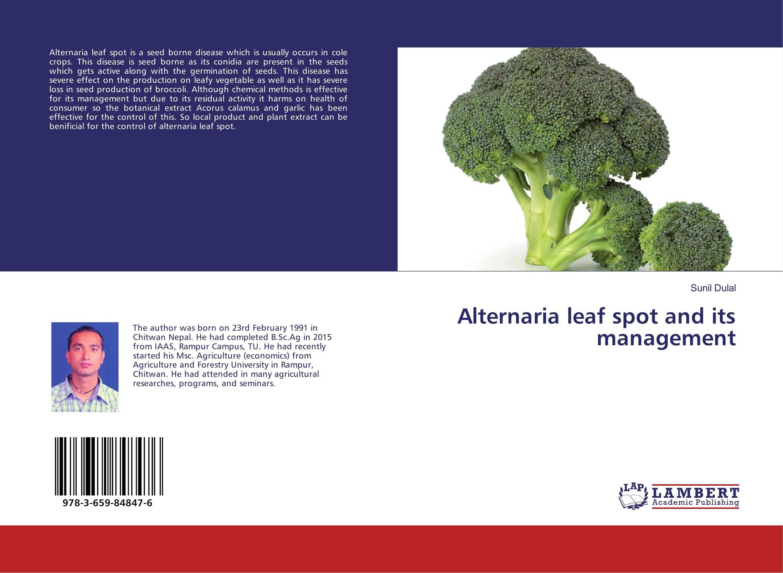 Alternaria leaf spot and its management pradeep kumar pandey and pradeep kumar shrotria sugarcane seed sett management