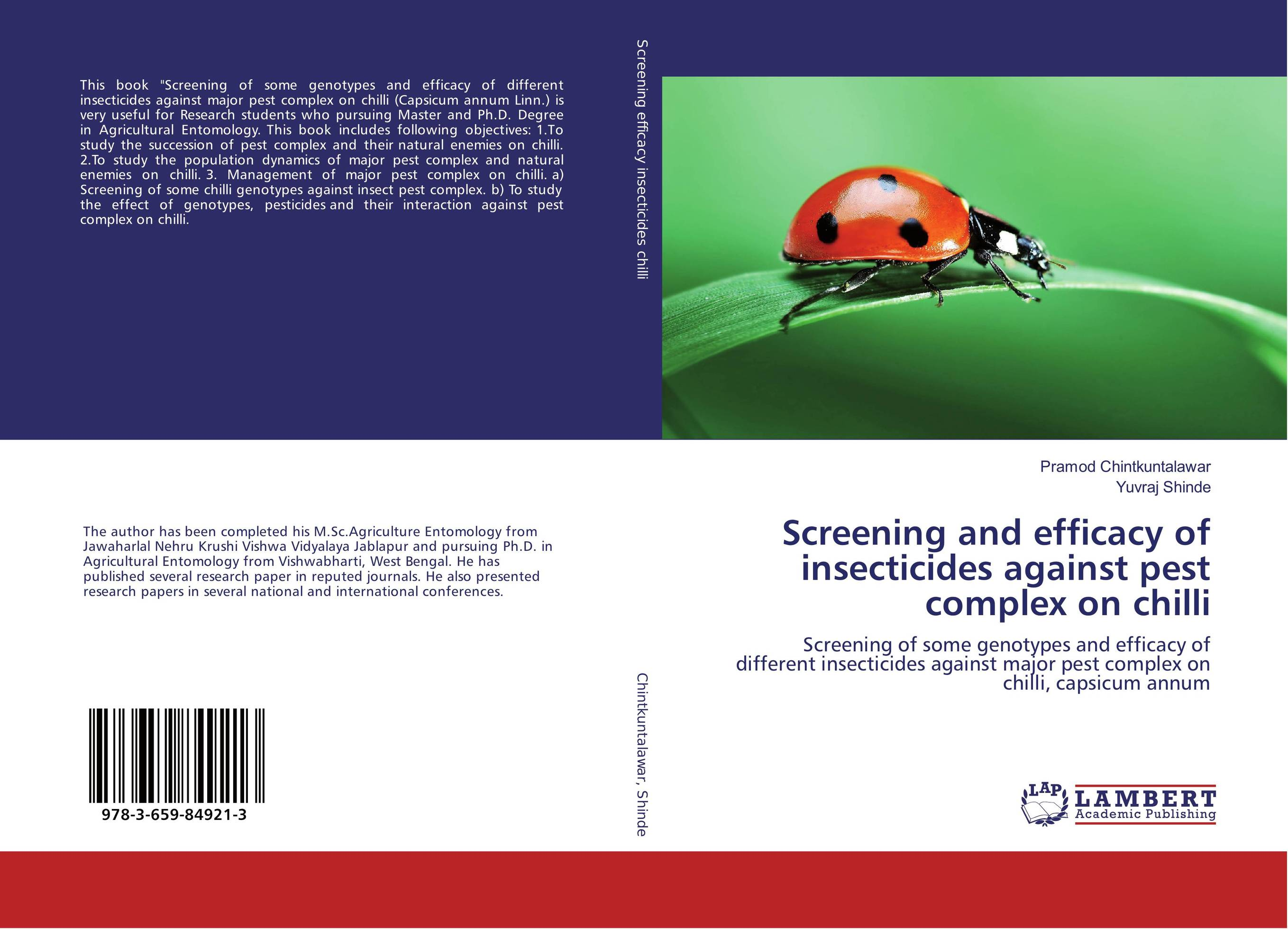 Screening and efficacy of insecticides against pest complex on chilli puthamohan vinayaga moorthi chelliah balasubramanian and afrin larifa efficacy of trichoderma against vector mosquitoes