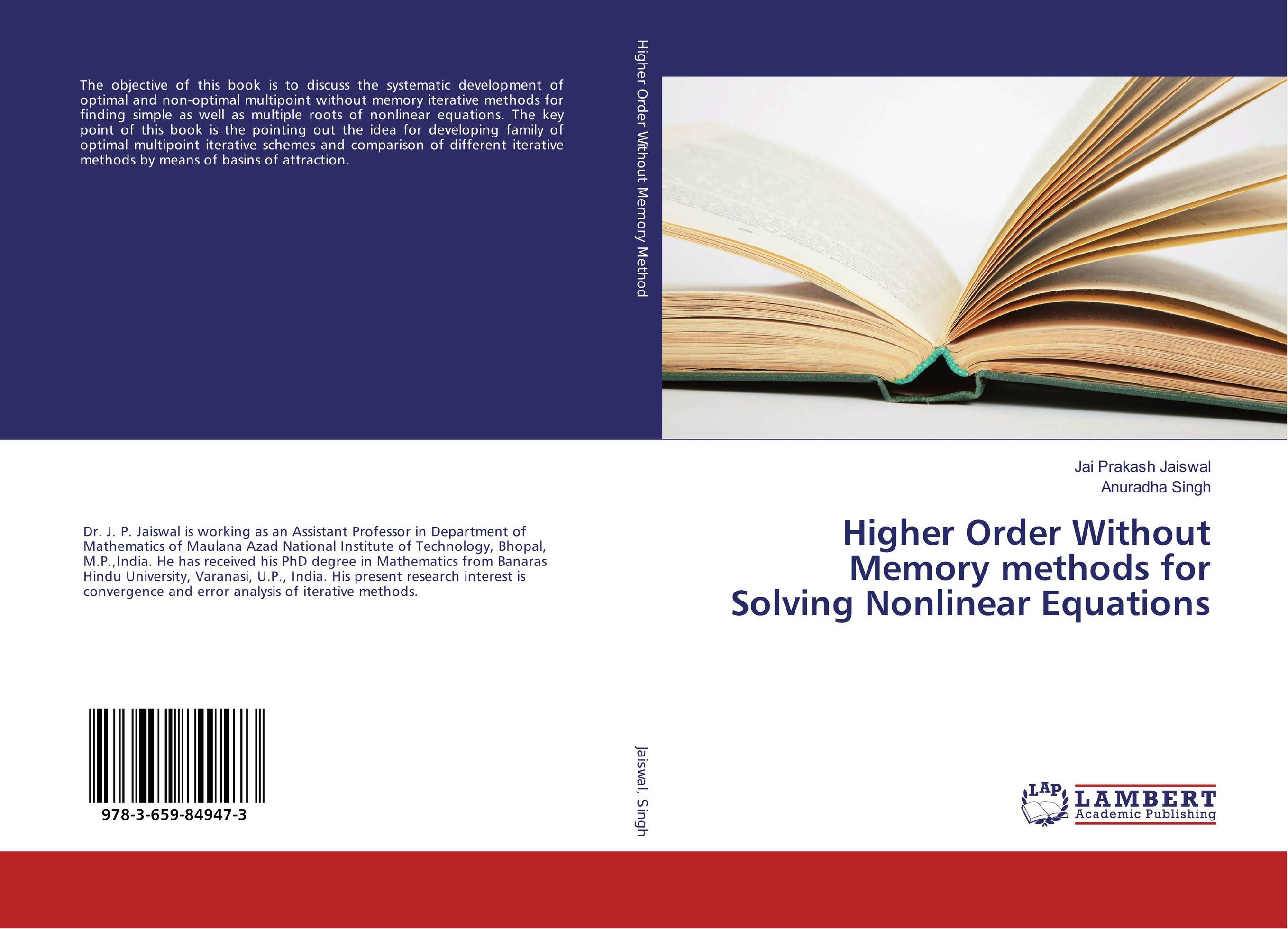 Higher Order Without Memory methods for Solving Nonlinear Equations the book of memory