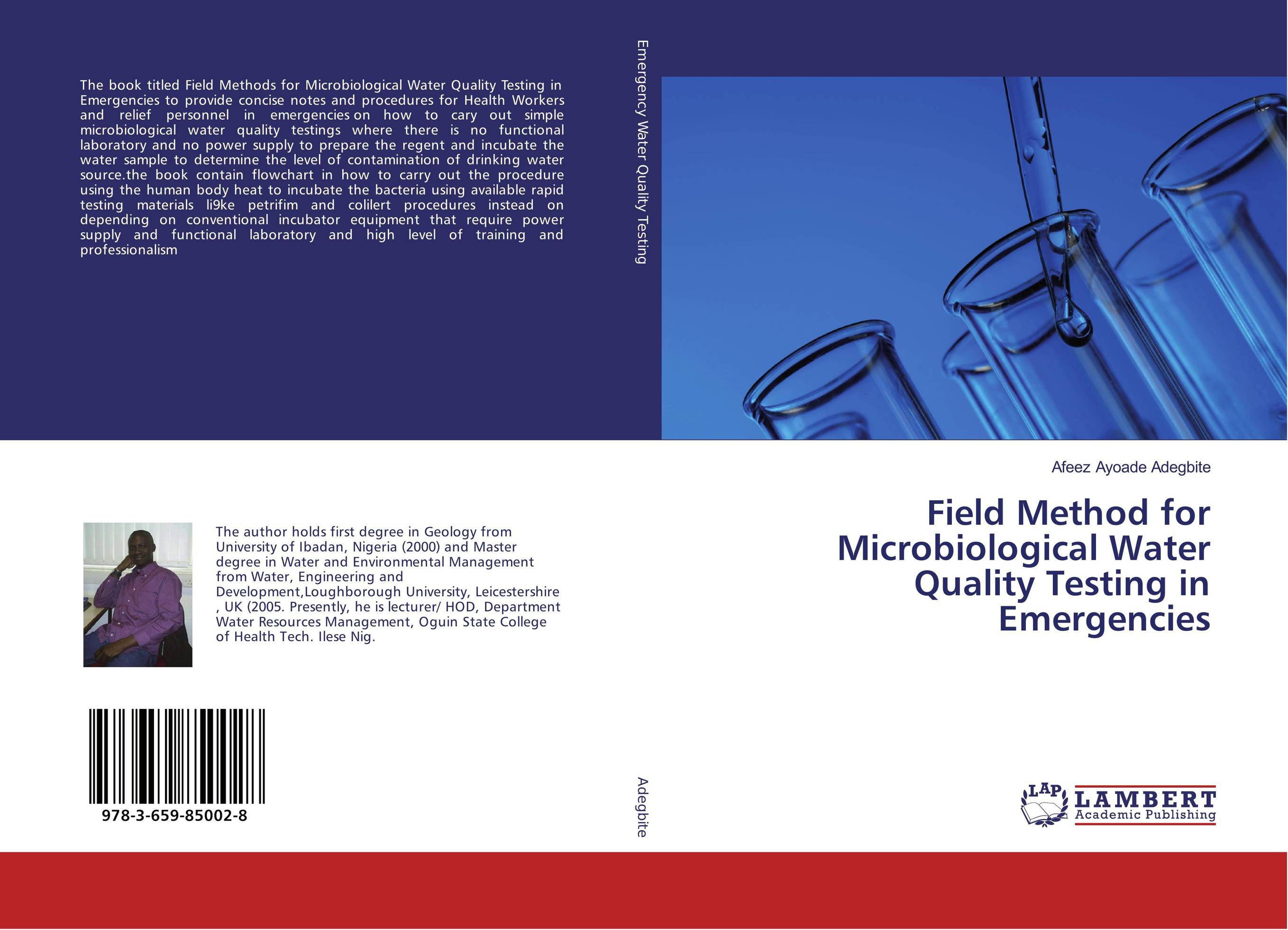 Field Method for Microbiological Water Quality Testing in Emergencies