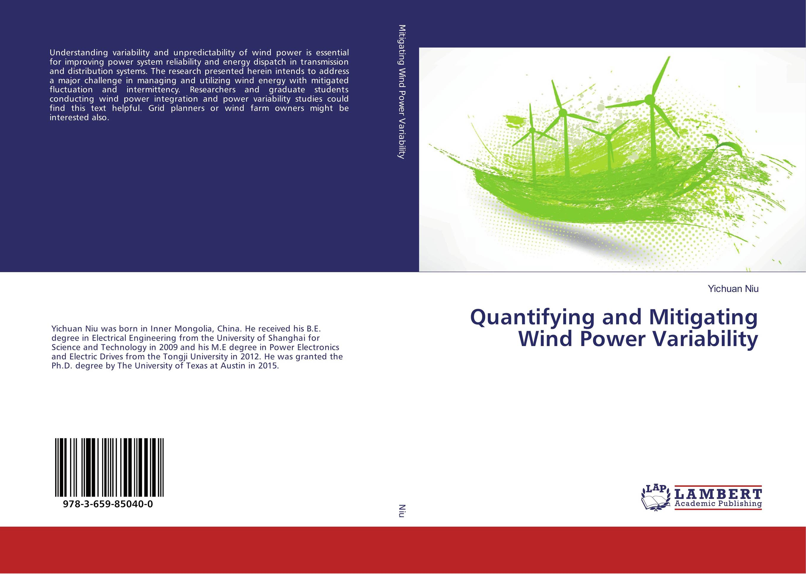 Quantifying and Mitigating Wind Power Variability wind energy generation modeling for planning of electric power system