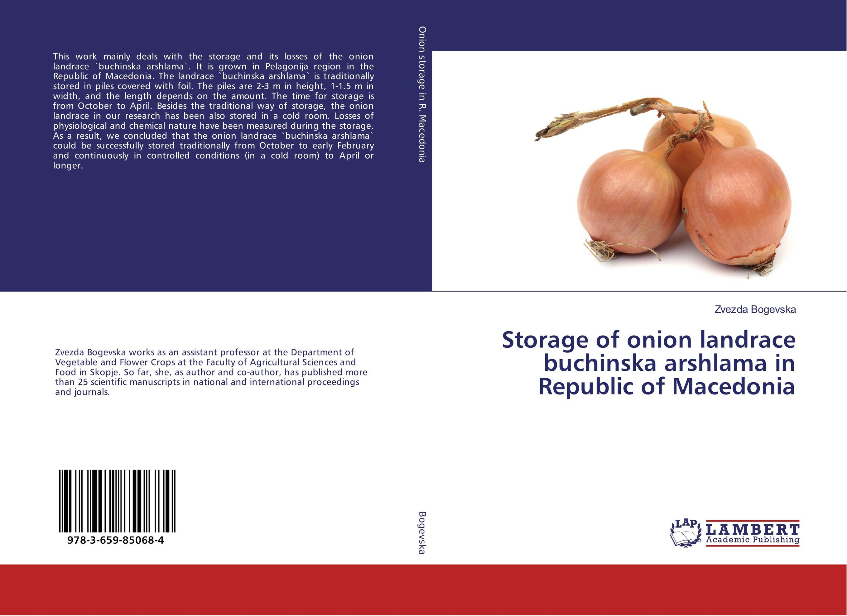 Storage of onion landrace buchinska arshlama in Republic of Macedonia the waters in the republic of macedonia as a business ecosystem
