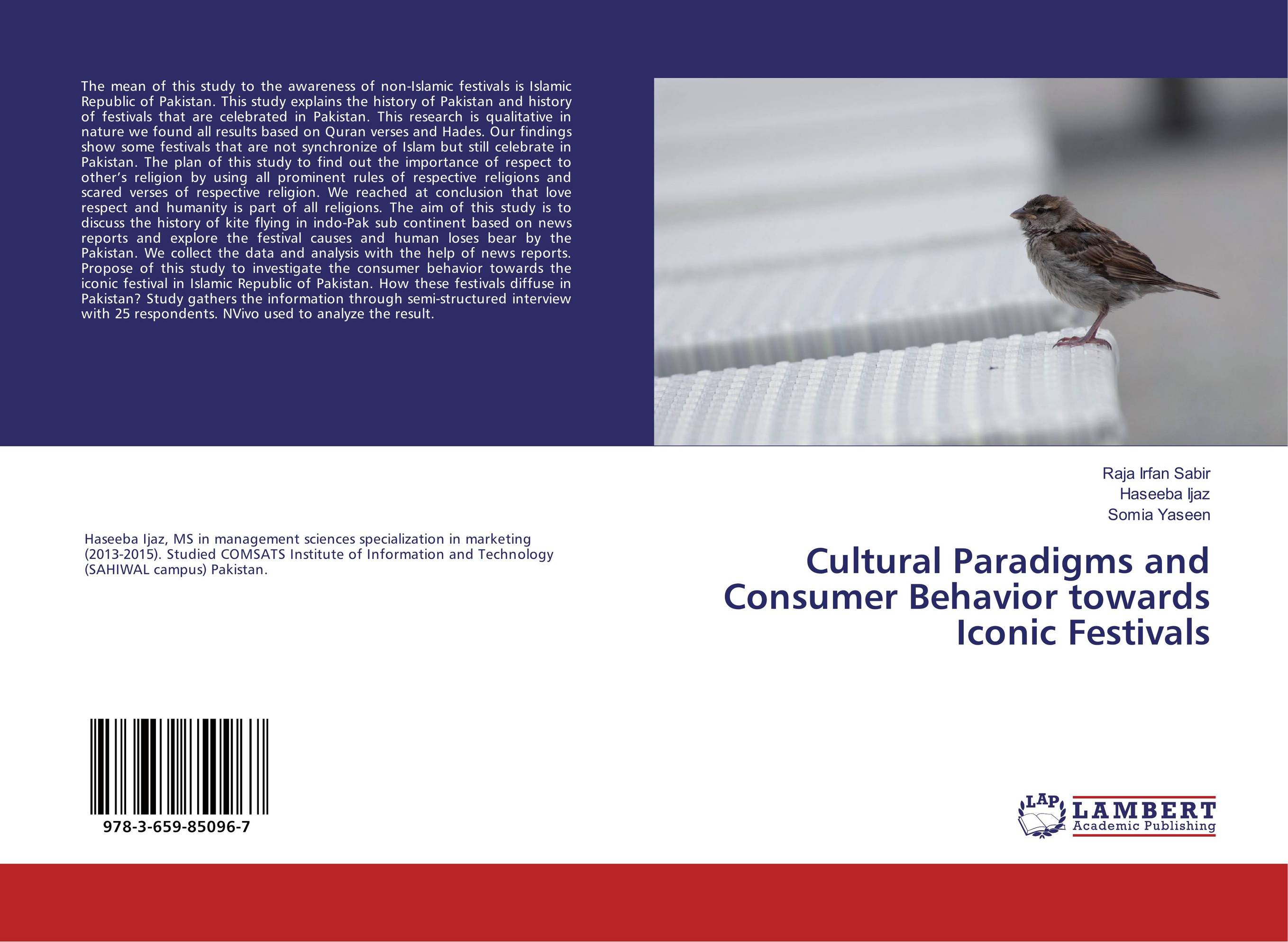 Cultural Paradigms and Consumer Behavior towards Iconic Festivals dividend paying behavior in pakistan