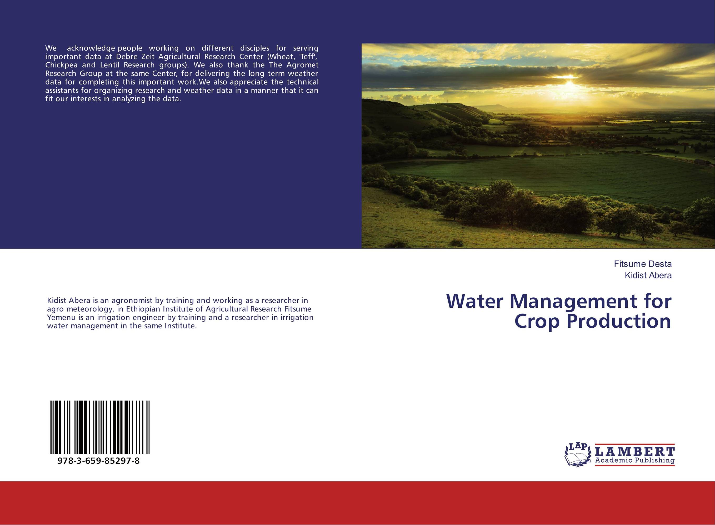 Water Management for Crop Production