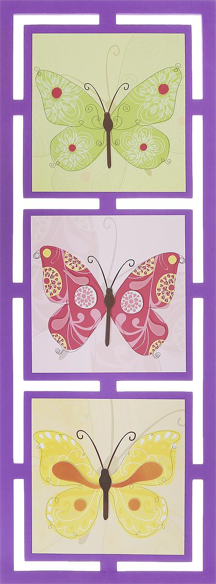 """Интерьерная наклейка Room Decor """"Бабочки"""" - это наклейка на все случаи жизни! Наклейка представляет собой три картины с изображениями бабочек.Украшение мебели, сокрытие царапины на стене или даже декор для скрапбукинга - наклейка станет идеальным вариантом для всего этого. Не стоит искать дорогостоящие наборы для творчества, инструменты, чтобы убрать скол или шероховатость с поверхности любимого шкафа или стола, когда под рукой имеется подобное изделие. Ведь всего пара движений, и ваша задумка уже перед вами! Не ограничивайте свою фантазию! Применение подобных наклеек не вызовет сложностей: быстро крепятся и убираются, при этом не оставляют следов. Привнесите оригинальные нотки в ваш интерьер, придайте яркую индивидуальность каждой частичке вашего окружения!"""