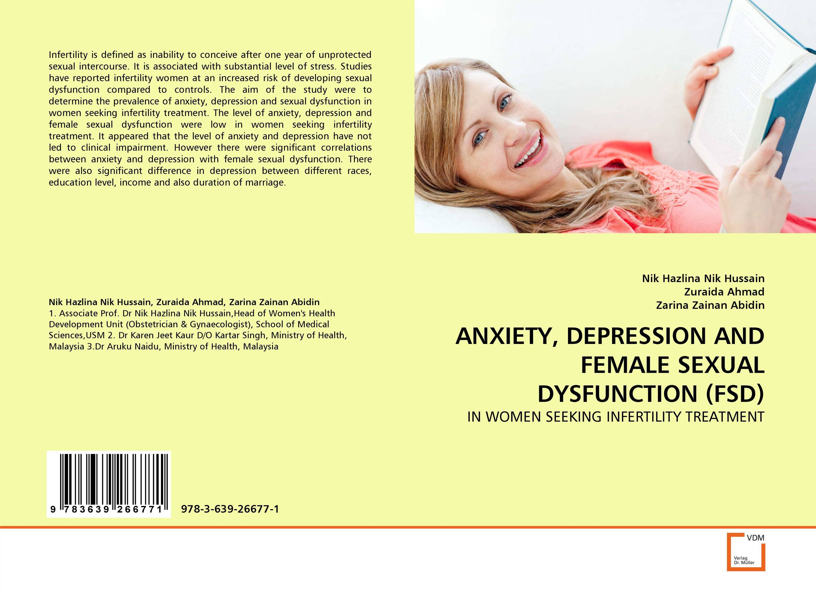 ANXIETY, DEPRESSION AND FEMALE SEXUAL DYSFUNCTION (FSD) therapeutic management of infertility in cattle