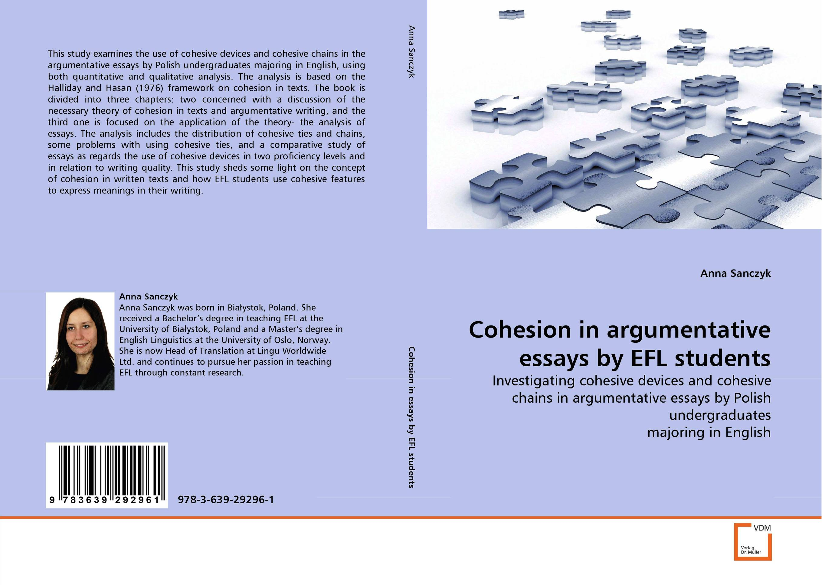Cohesion in argumentative essays by EFL students