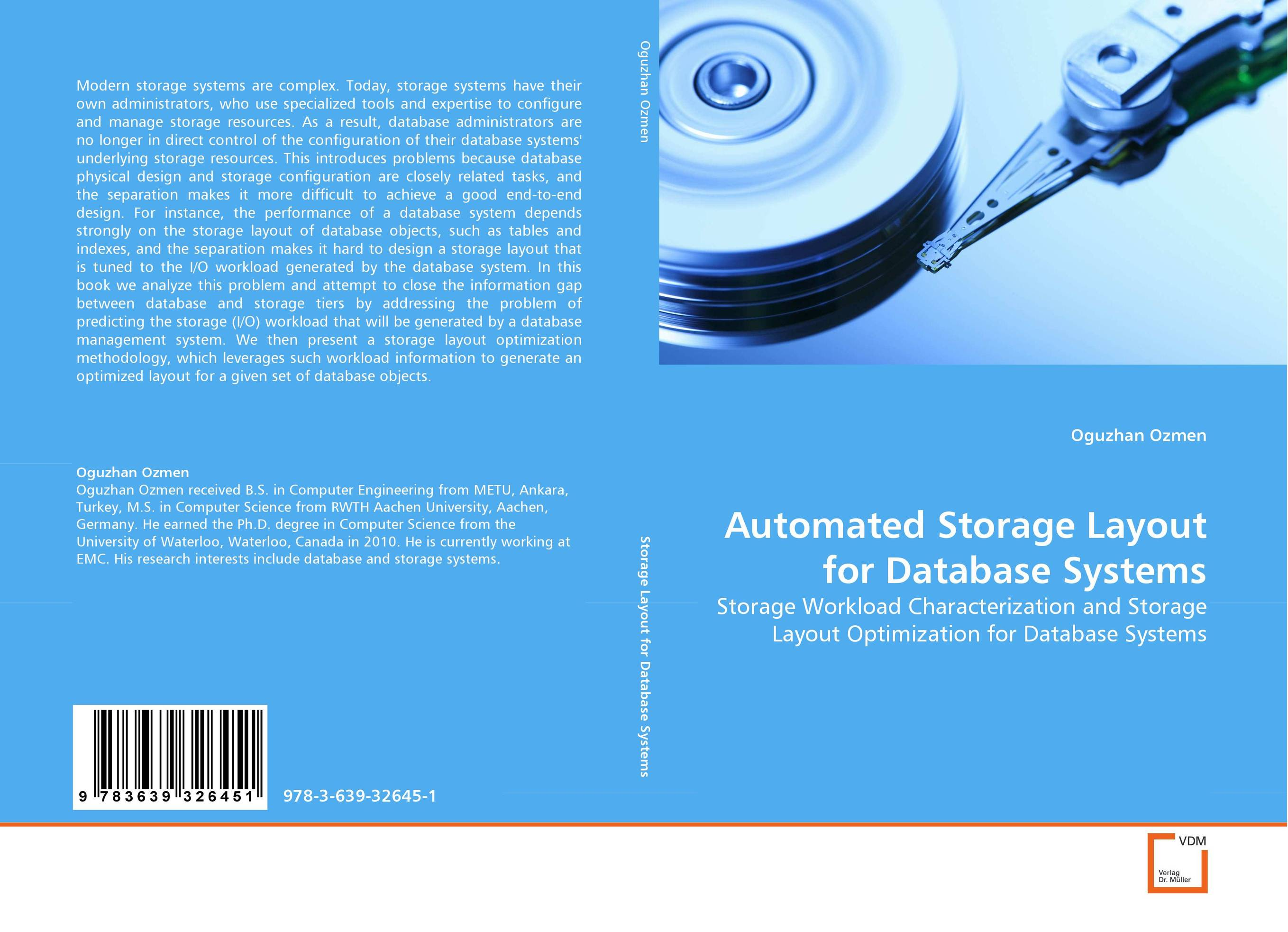 Automated Storage Layout for Database Systems