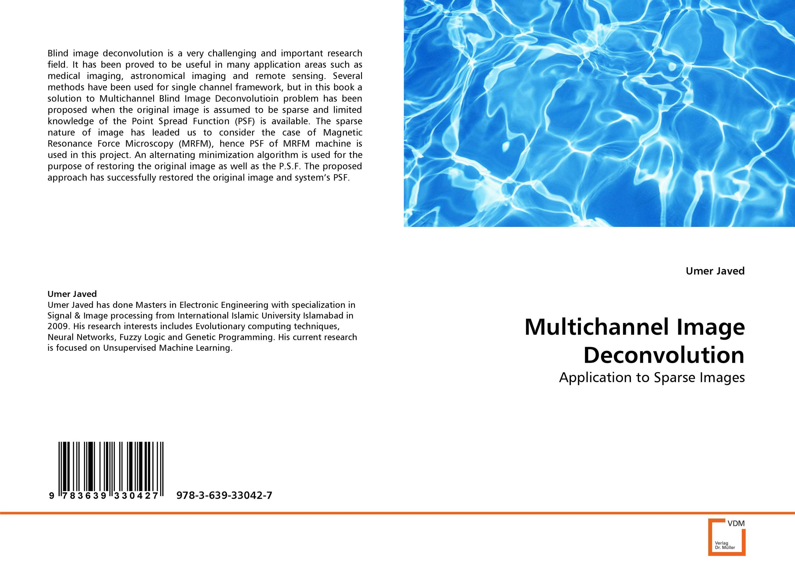 Multichannel Image Deconvolution bayesian deconvolution of sparse processes