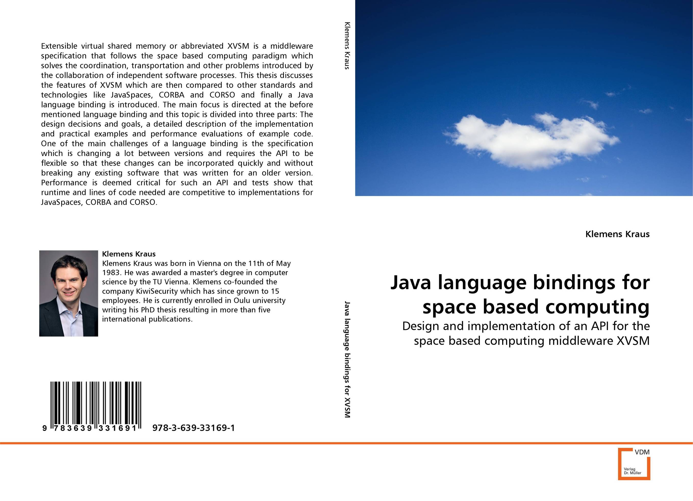 Java language bindings for space based computing java language bindings for space based computing