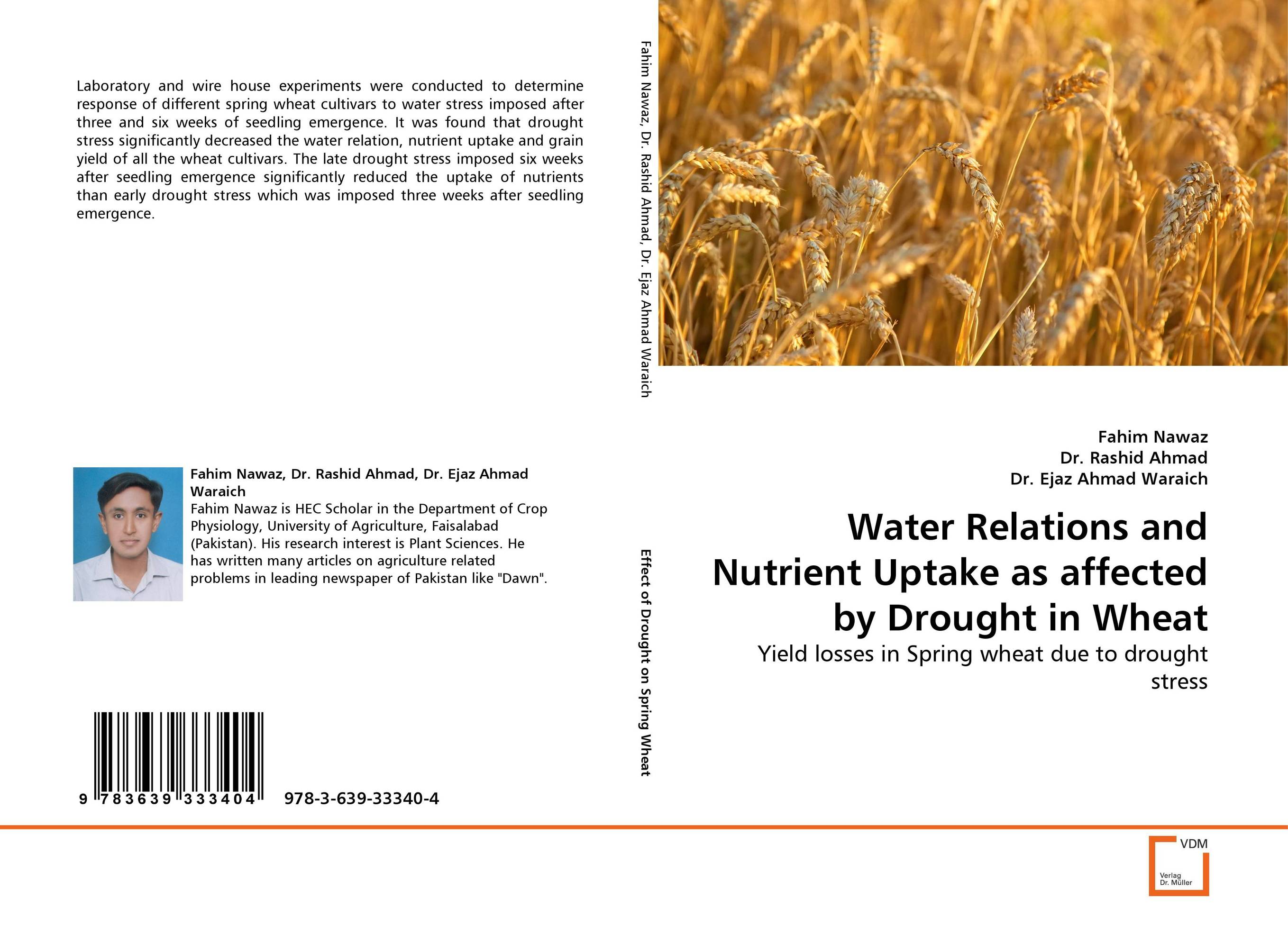 Water Relations and Nutrient Uptake as affected by Drought in Wheat