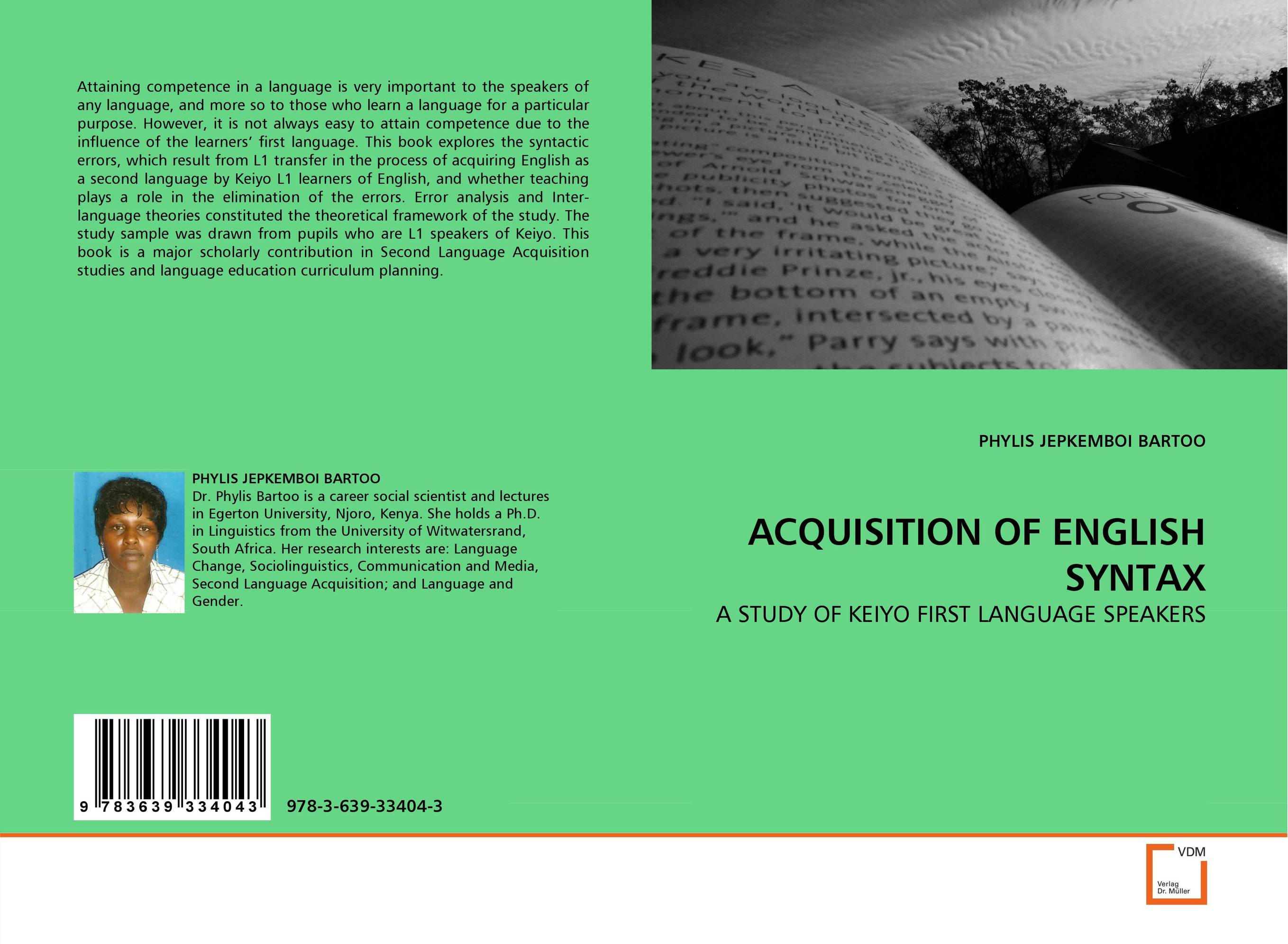 ACQUISITION OF ENGLISH SYNTAX the role of ict in the teaching of english as a foreign language efl