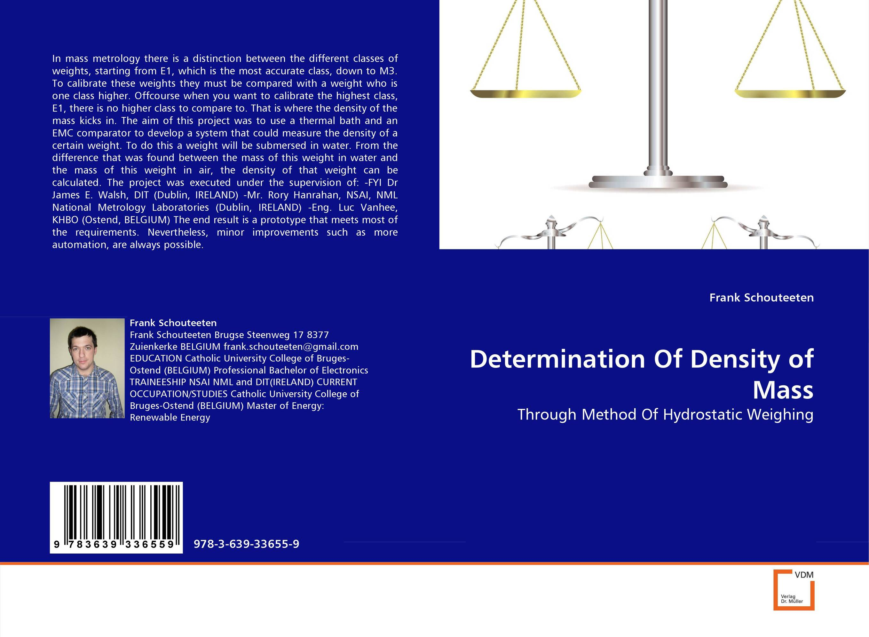 Determination Of Density of Mass metrology