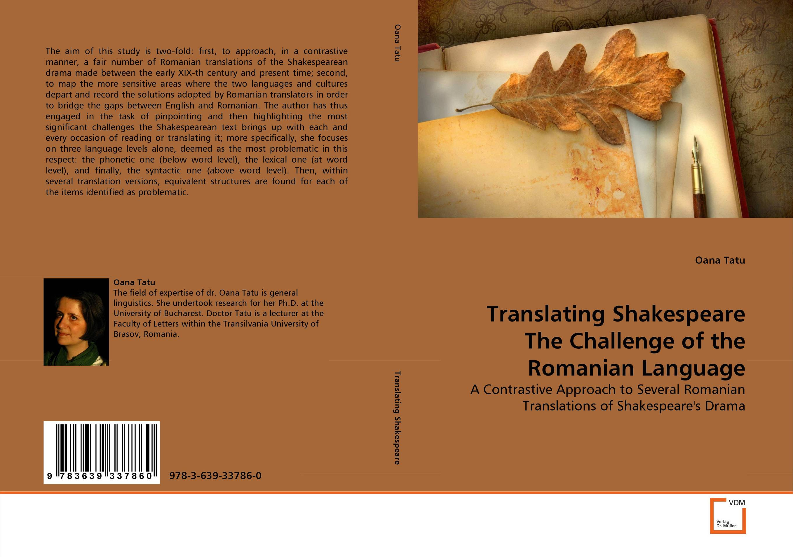 Translating Shakespeare The Challenge of the Romanian Language early signs of language shifting