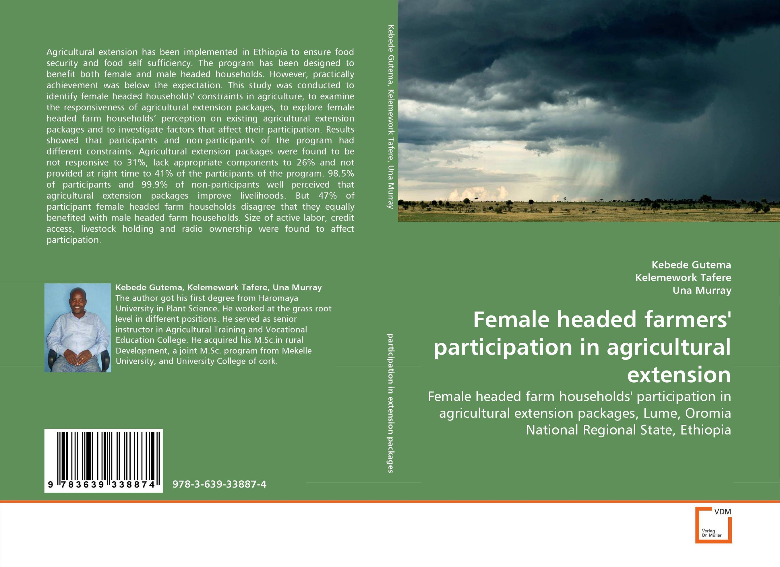 Female headed farmers'' participation in agricultural extension v n chavda m n popat and p j rathod farmers' perception about usefulness of agriculture extension system