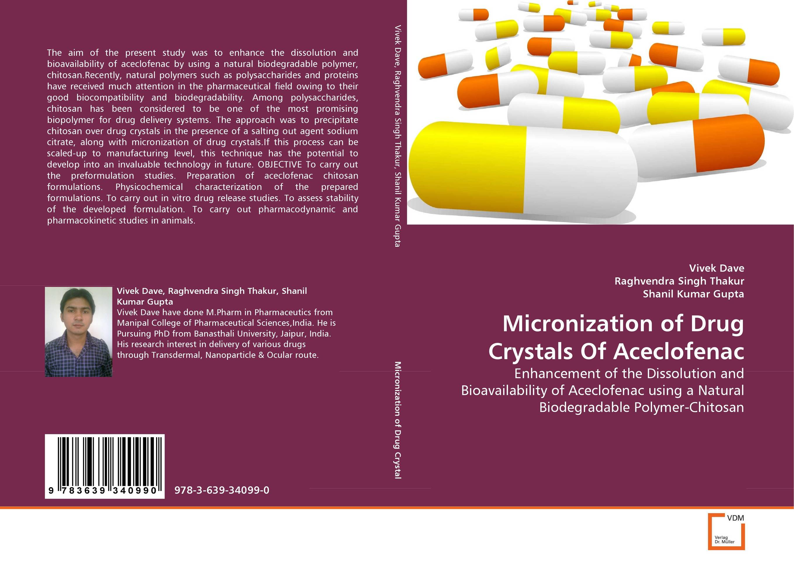 Micronization of Drug Crystals Of Aceclofenac amit kumar singh chitosan membrane permeated transdermal drug delivery of ondansetron