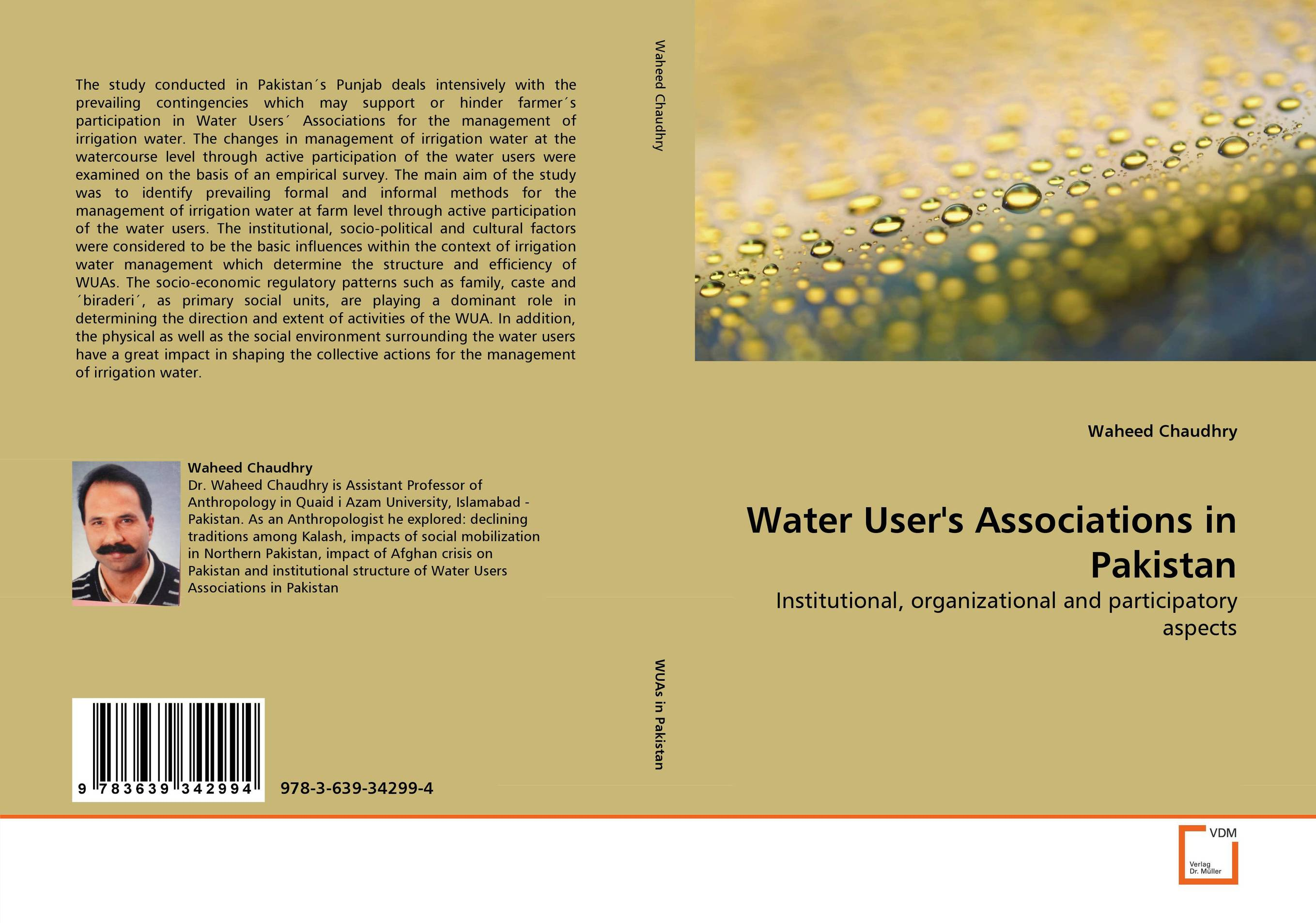 Water User''s Associations in Pakistan management and users participation in low cost flat