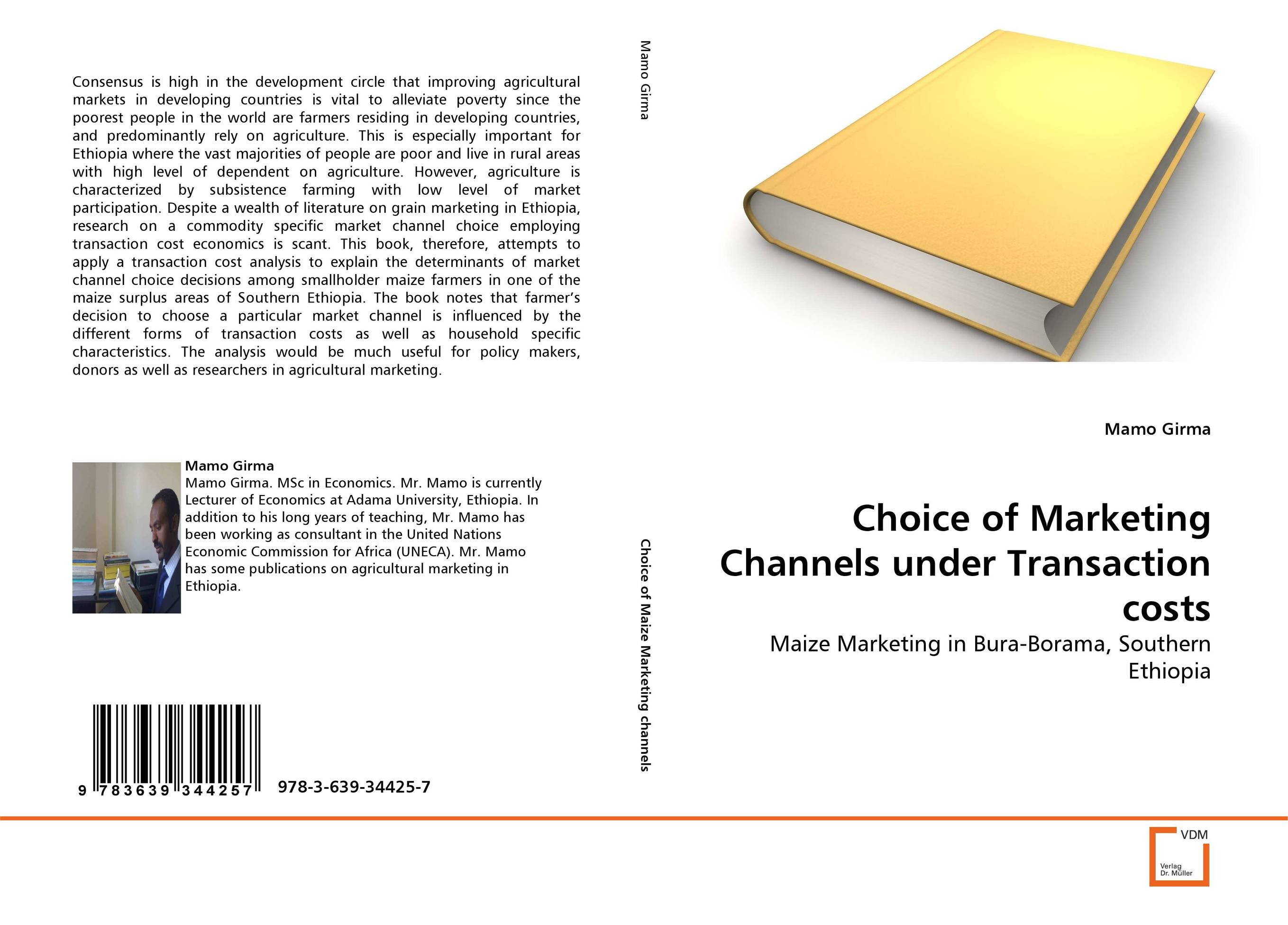Choice of Marketing Channels under Transaction costs клавдия солодушкина economics is your choice