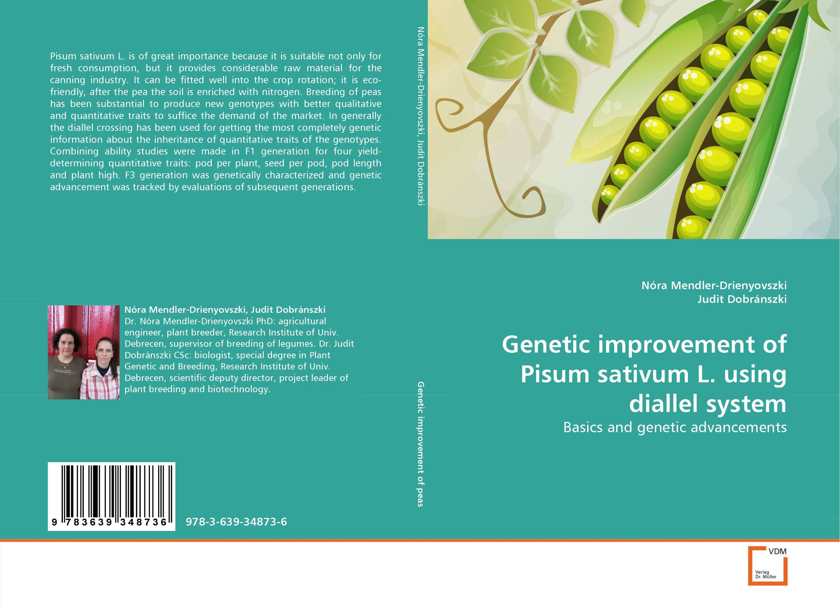 Genetic improvement of Pisum sativum L. using diallel system купить